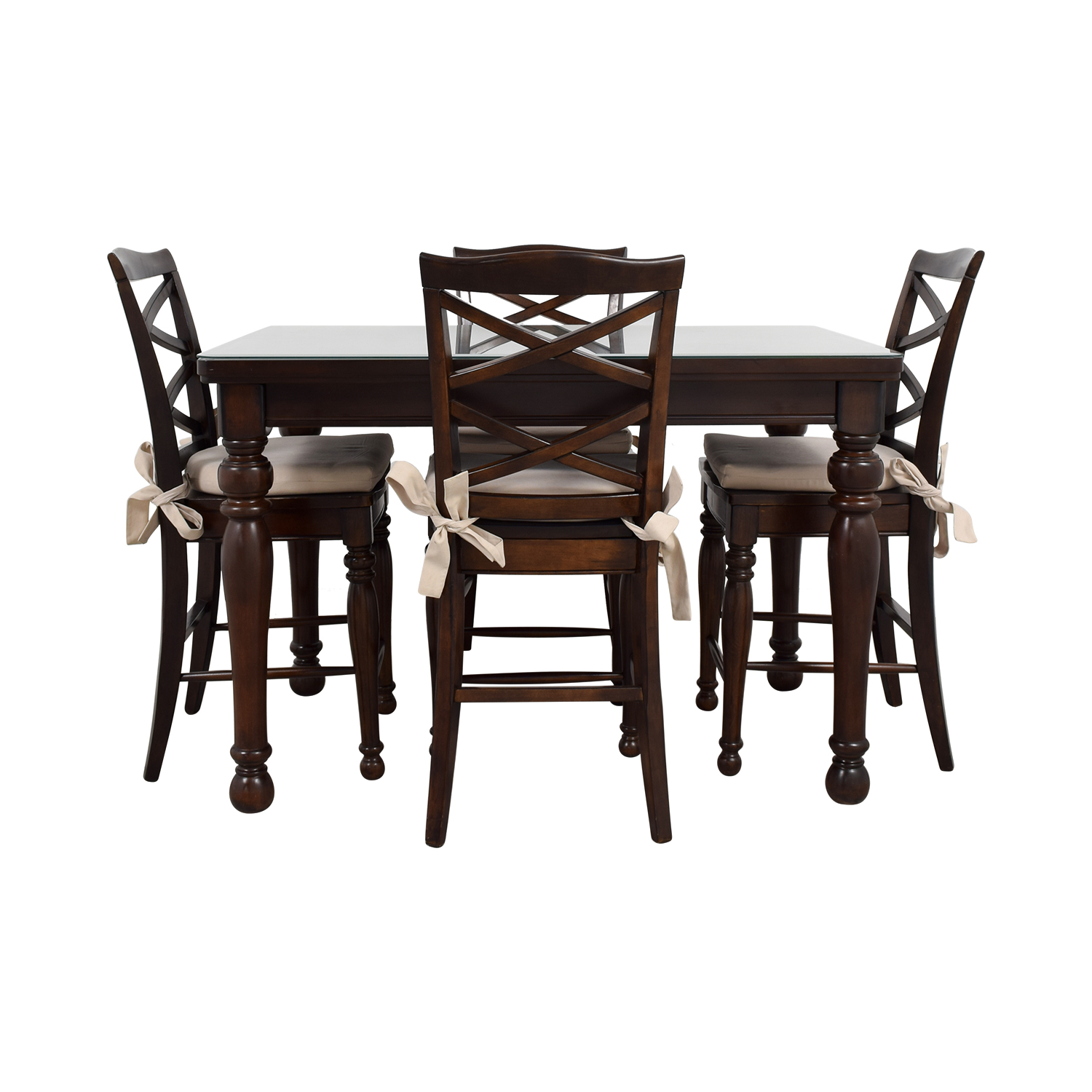 Ashley Furniture Ashley Furniture Dark Wood Dining Set with Seat Cushions nyc