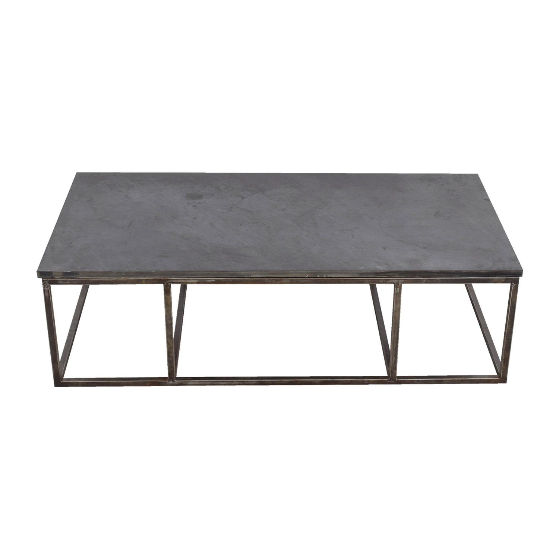 82 Off Custom Cut Slate Coffee Table Tables