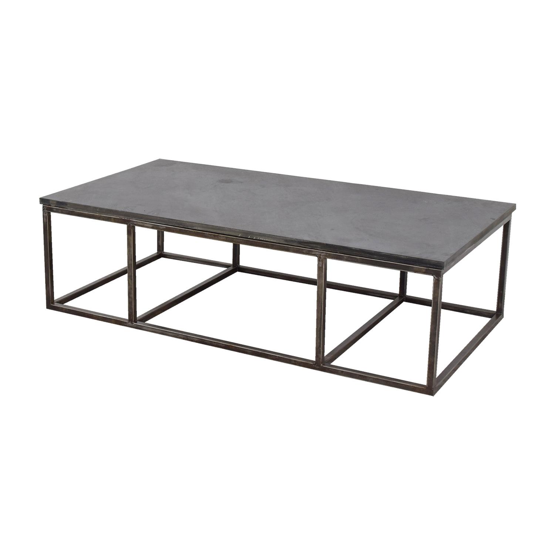 Pleasing 82 Off Custom Cut Slate Coffee Table Tables Download Free Architecture Designs Sospemadebymaigaardcom