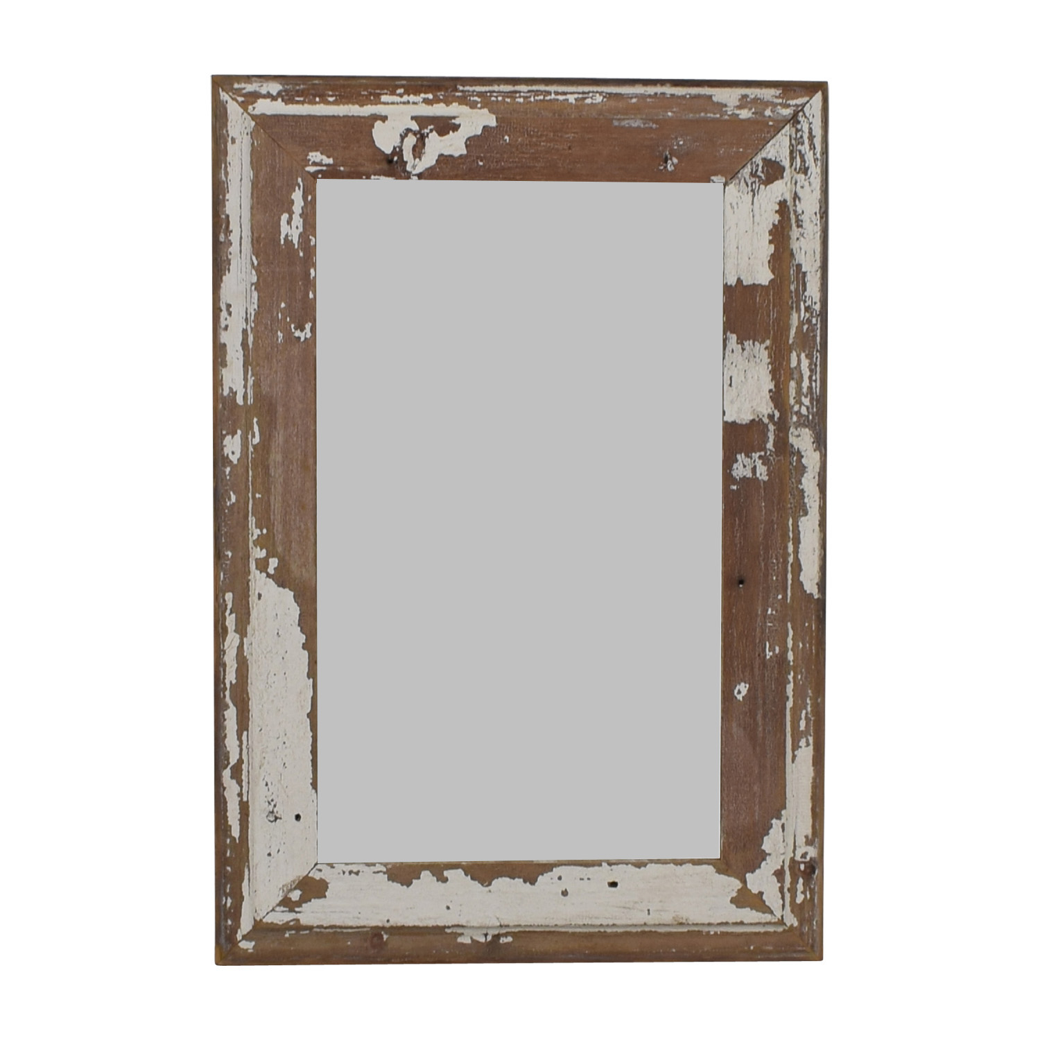 White Distressed Floor Mirror / Mirrors