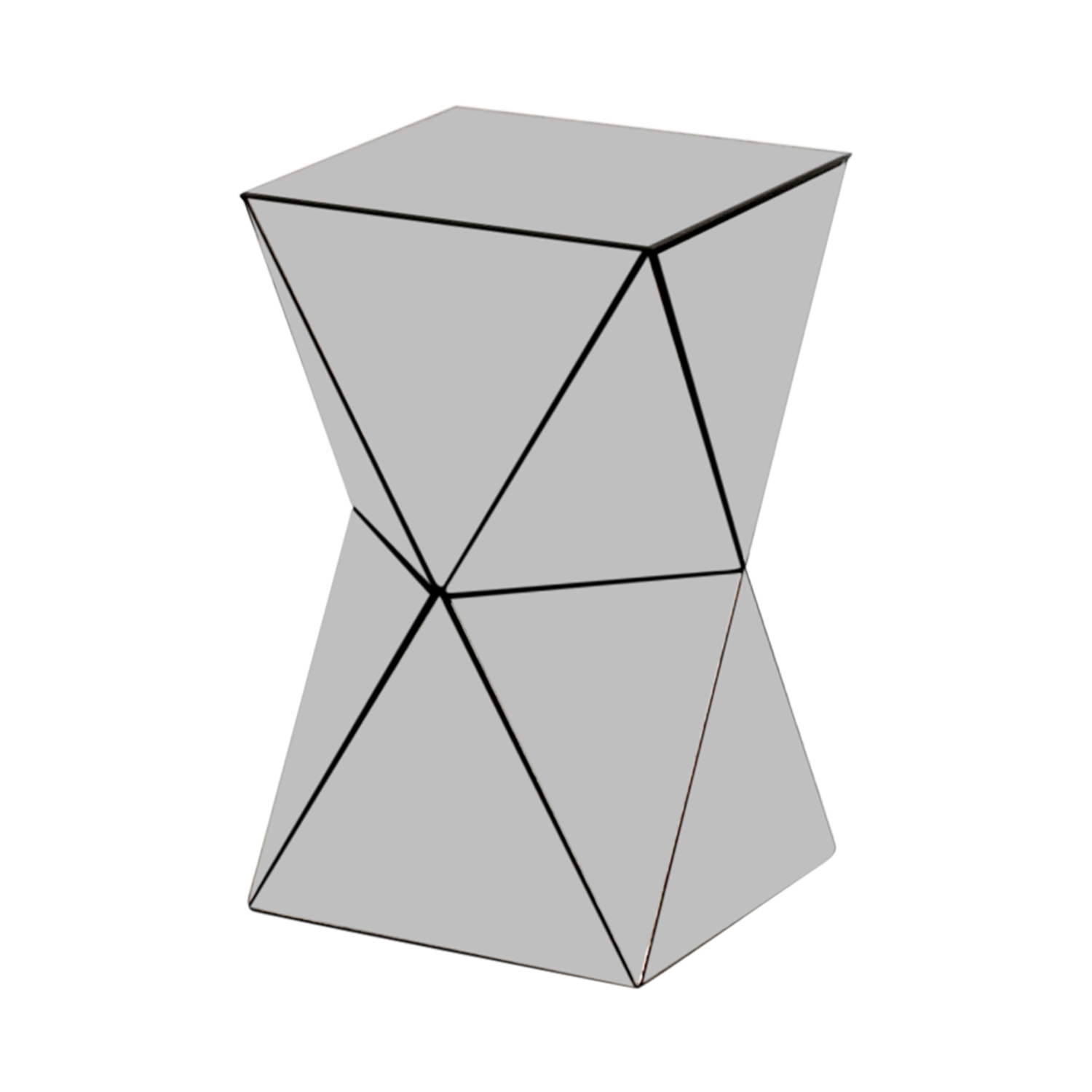 42 Off West Elm Triangular Mirrored Side Table Tables