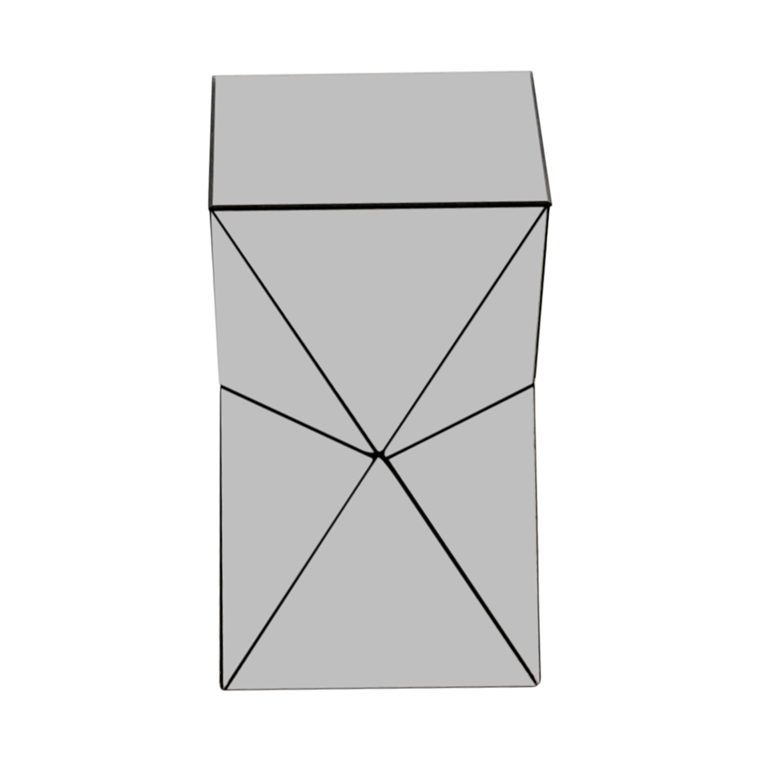 buy West Elm Triangular Mirrored Side Table West Elm
