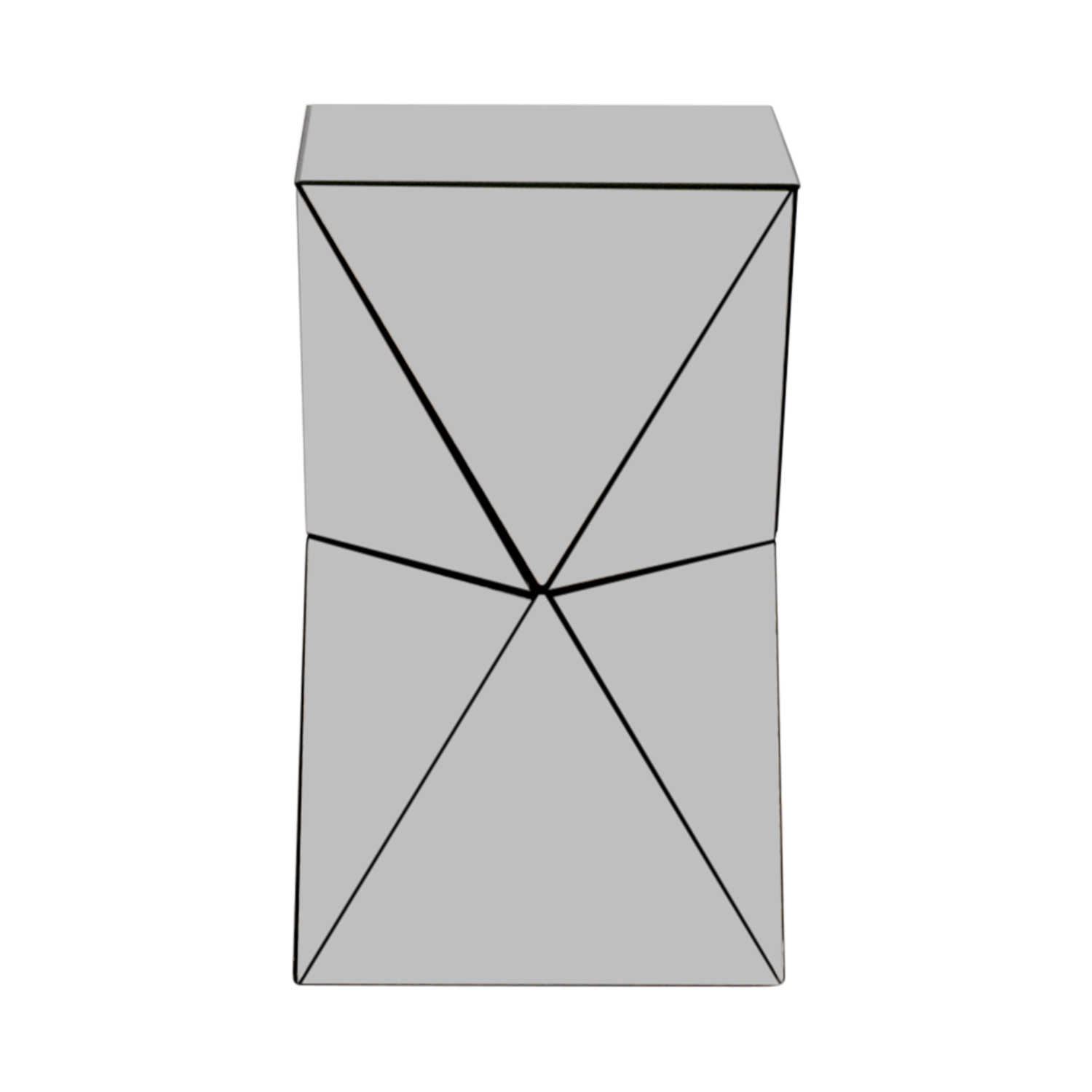 West Elm Triangular Mirrored Side Table Price