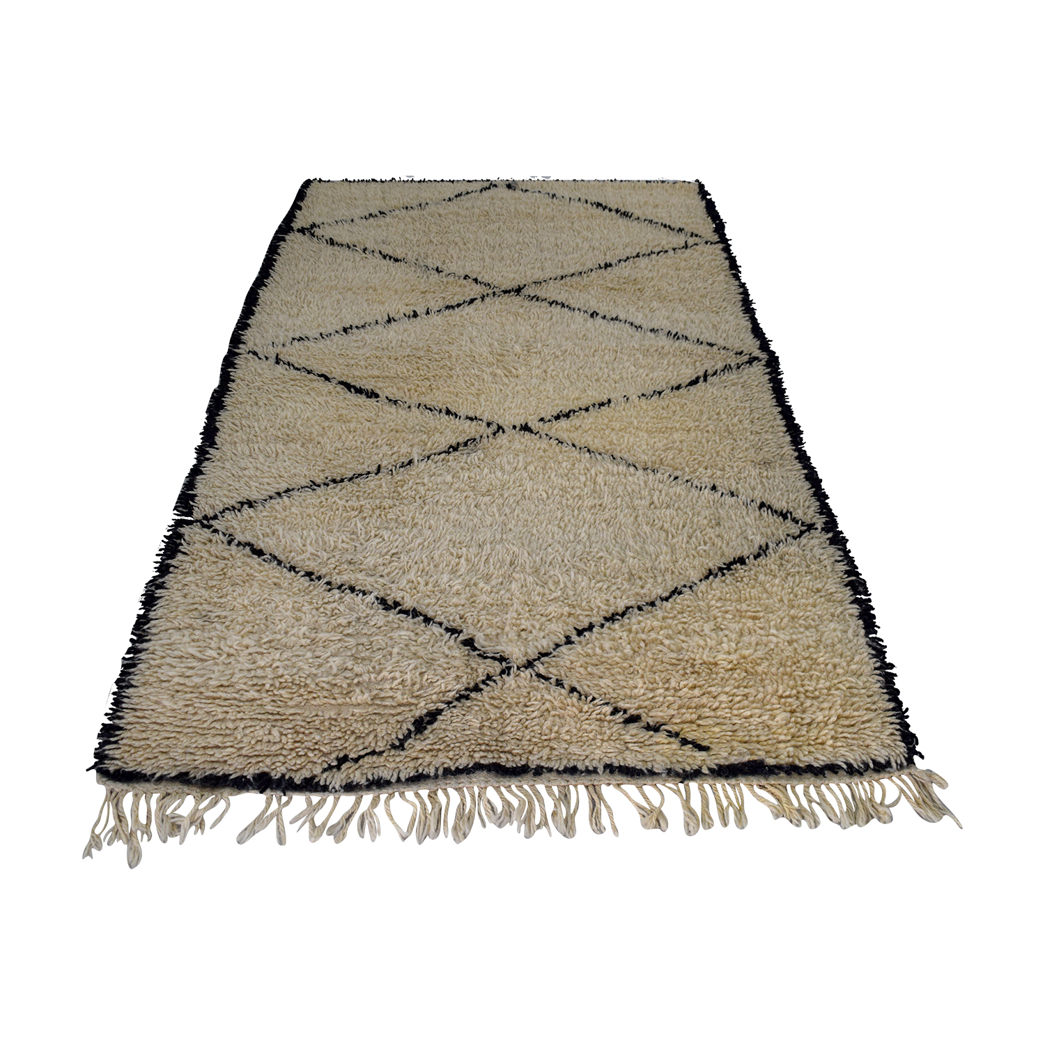 Black and Tan Moroccan Rug nj