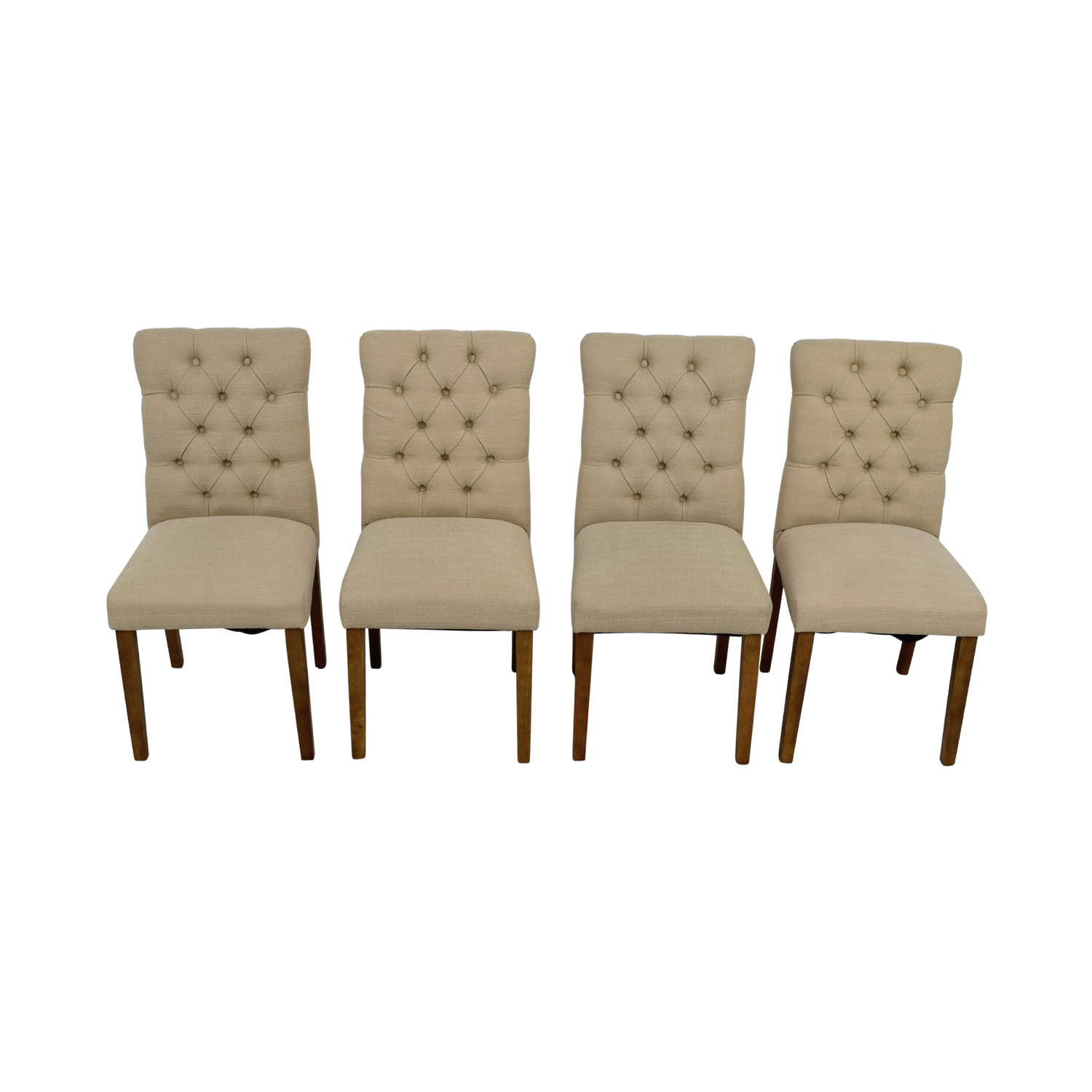 ... Target Brookline Threshold Tan Tufted Dining Chairs Sale ...