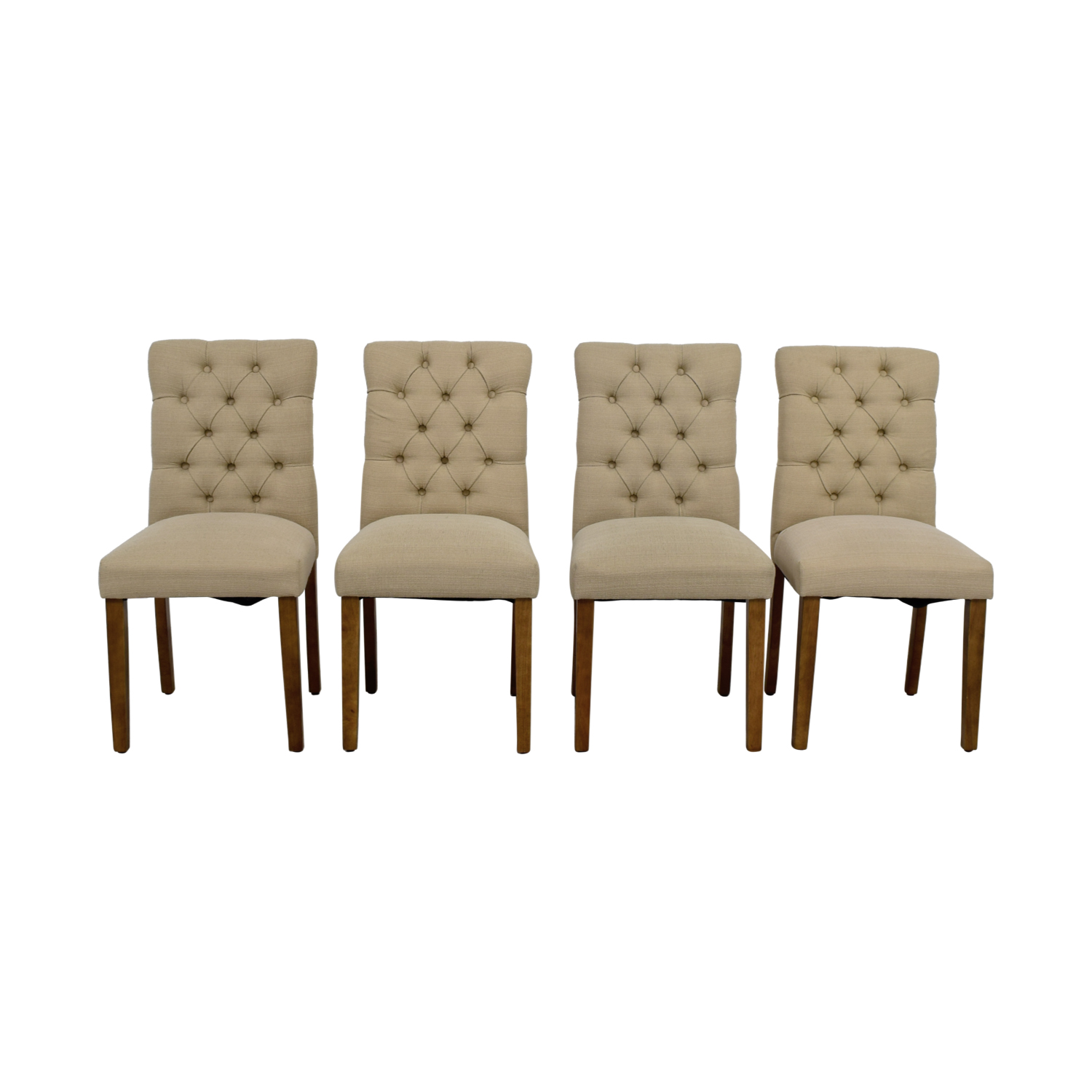 67 Off Target Target Brookline Threshold Tan Tufted Dining Chairs Chairs