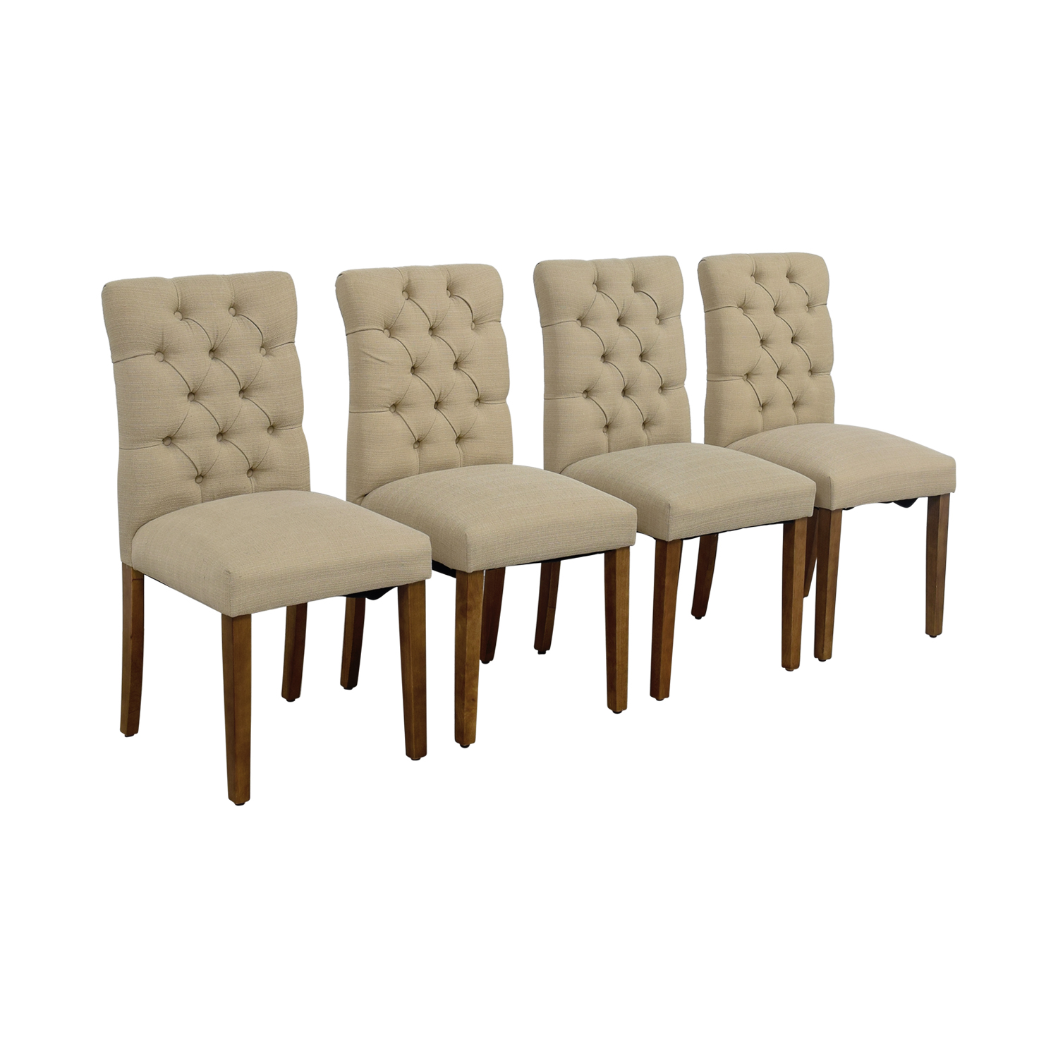 ... Target Target Brookline Threshold Tan Tufted Dining Chairs Price ...