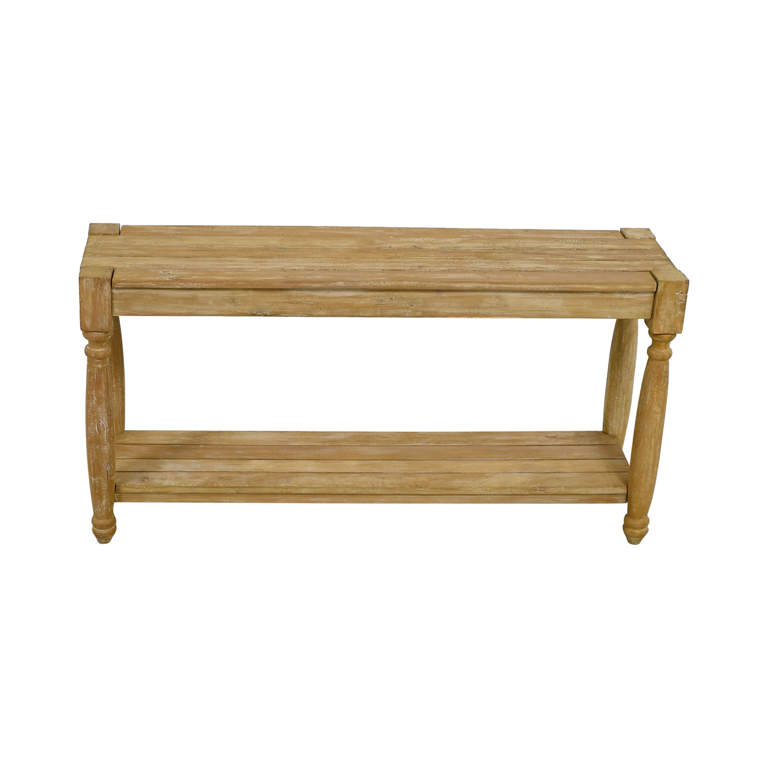 wholesale dealer e47bb bbca1 77% OFF - HomeGoods HomeGoods Natural Wood Console Table / Tables