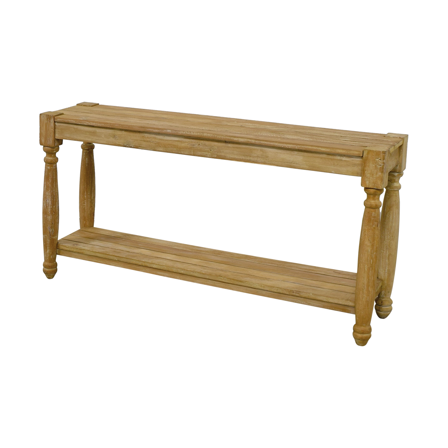 76 Off Homegoods Homegoods Natural Wood Console Table Tables