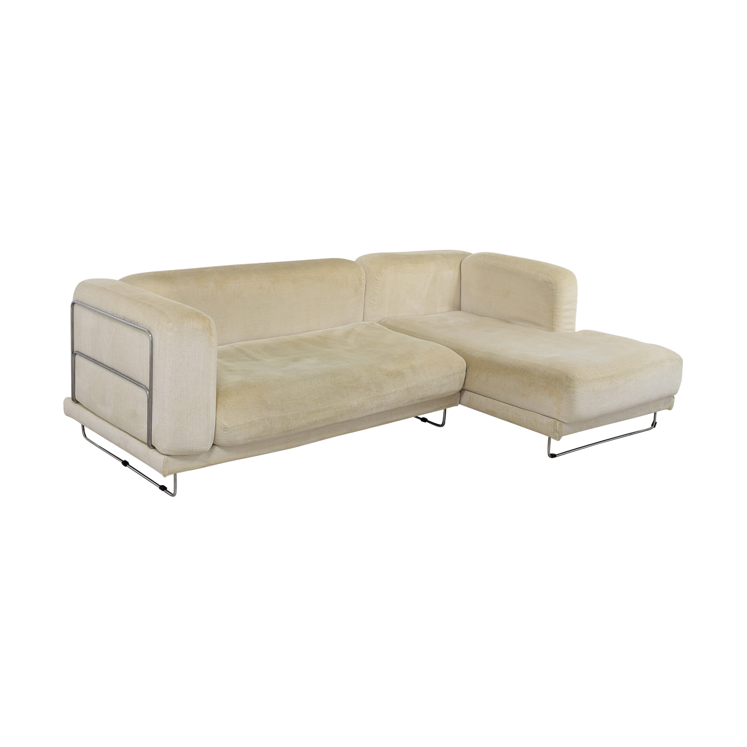 82 off ikea ikea white chaise sectional sofas for Ikea chaise bercante