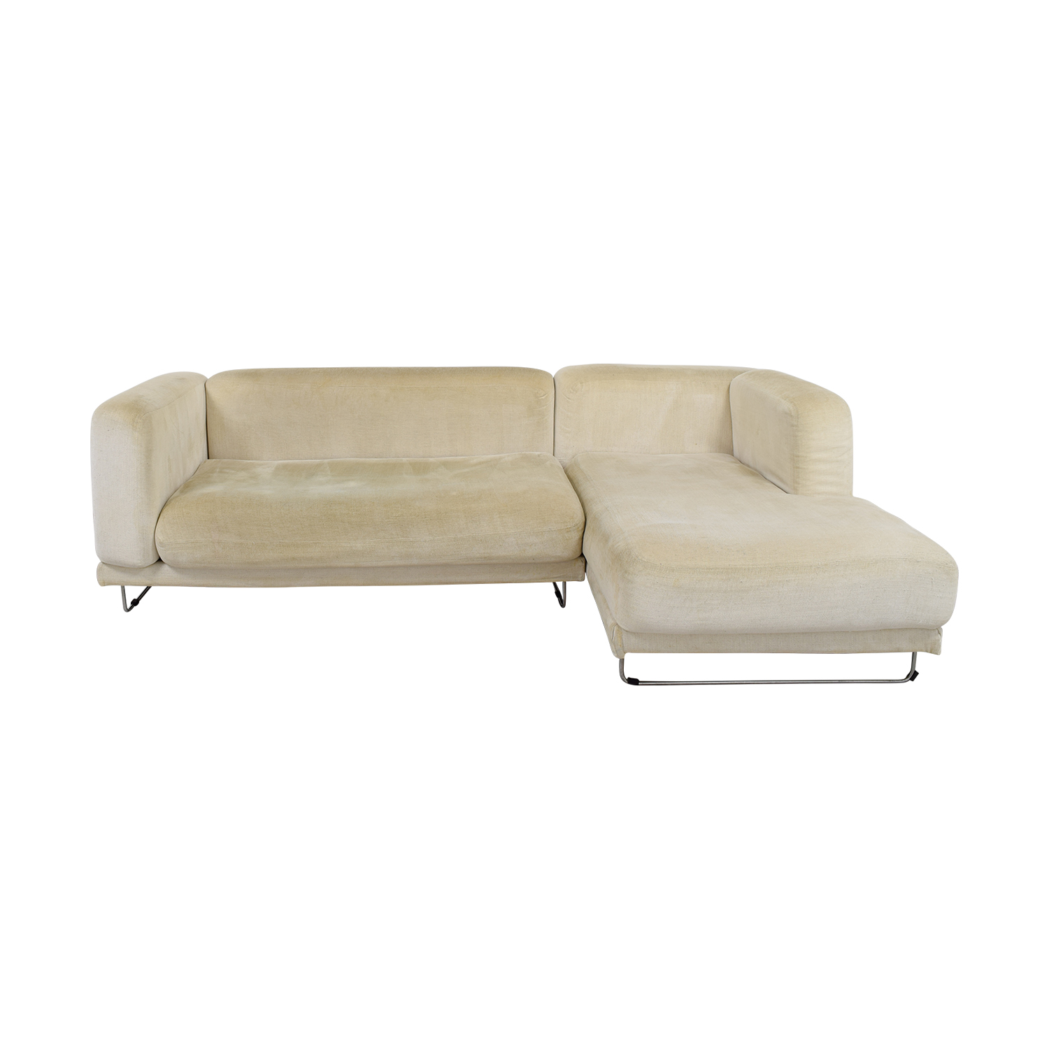 82 off ikea ikea white chaise sectional sofas for Chaise urban ikea