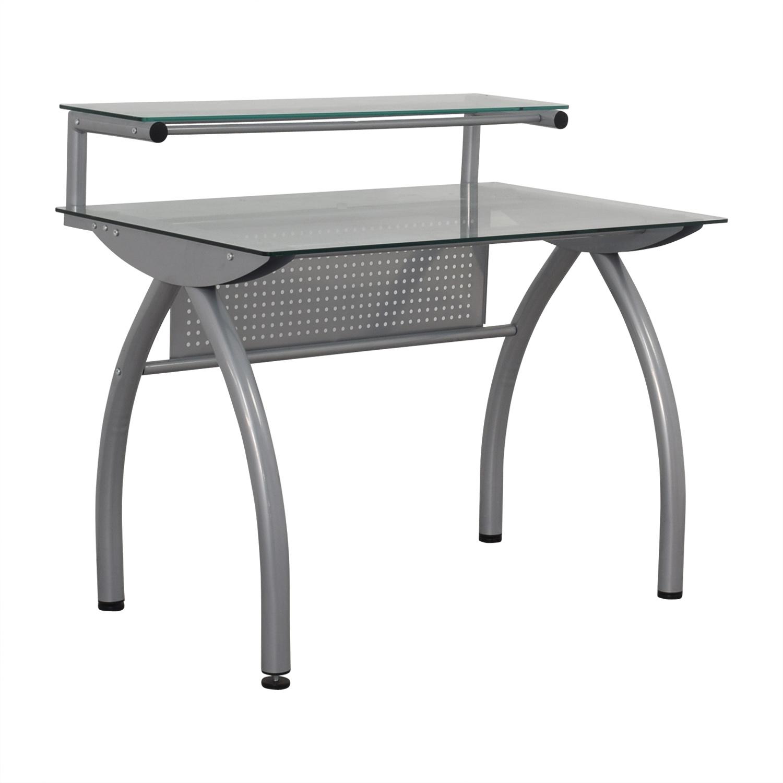 Glass and Metal Desk nj