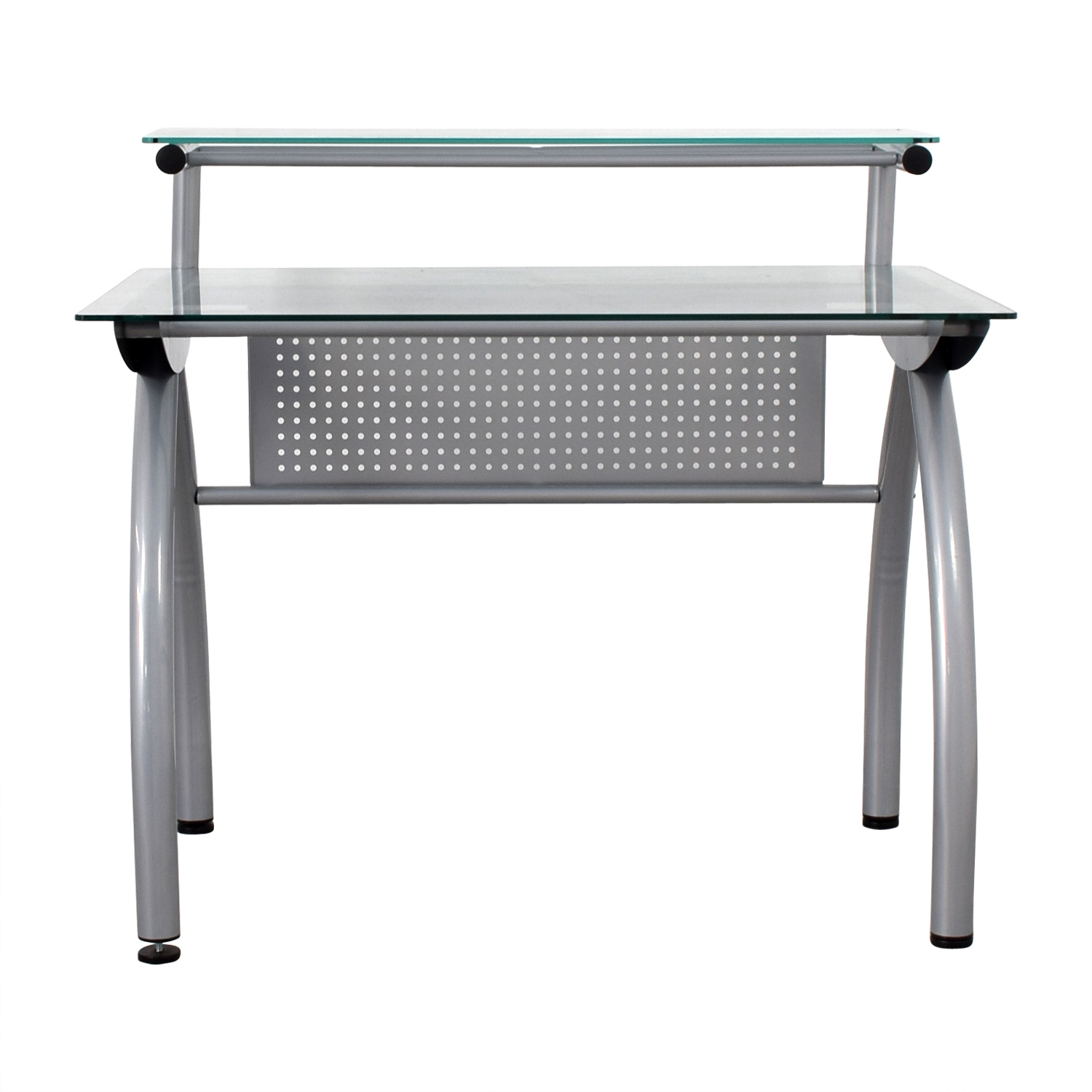 Glass and Metal Desk Tables