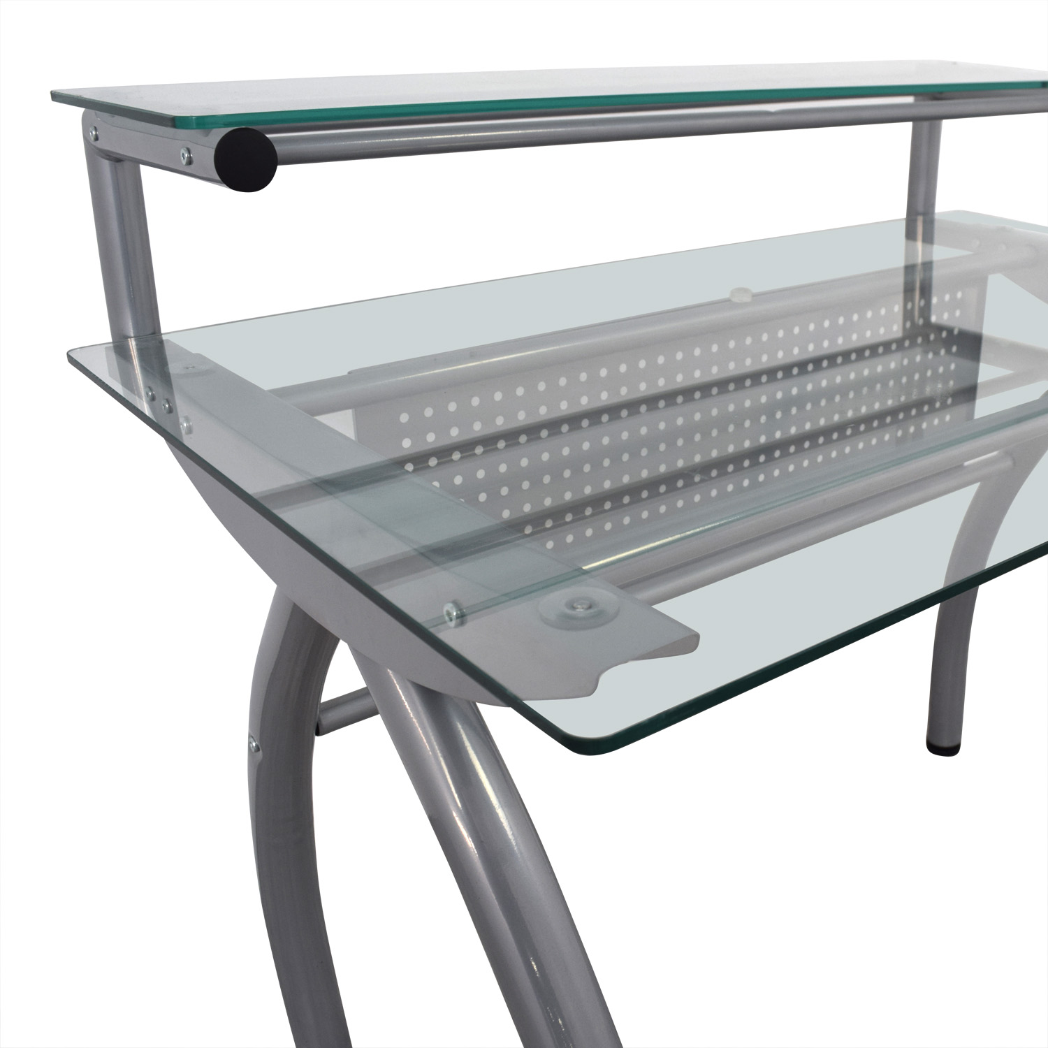 buy Glass and Metal Desk Tables