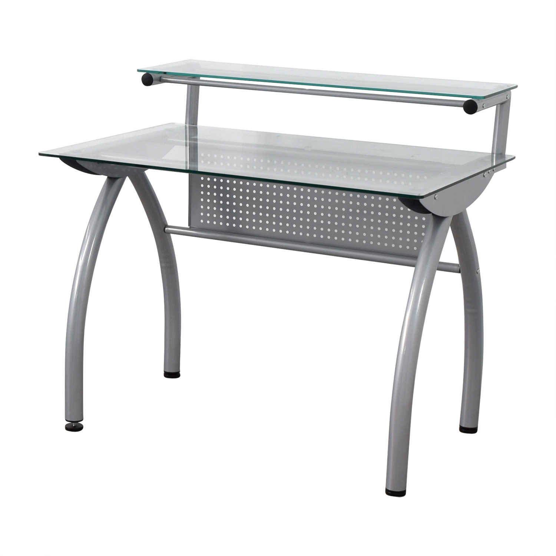 Glass and Metal Desk