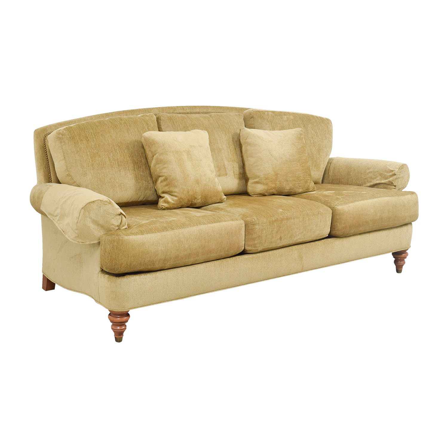 Ethan Allen Hyde Sofa 42 Off Gold Three