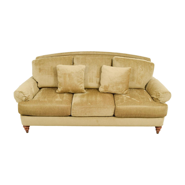 Ethan Allen Ethan Allen Hyde Gold Three-Cushion Comfort Sofa second hand