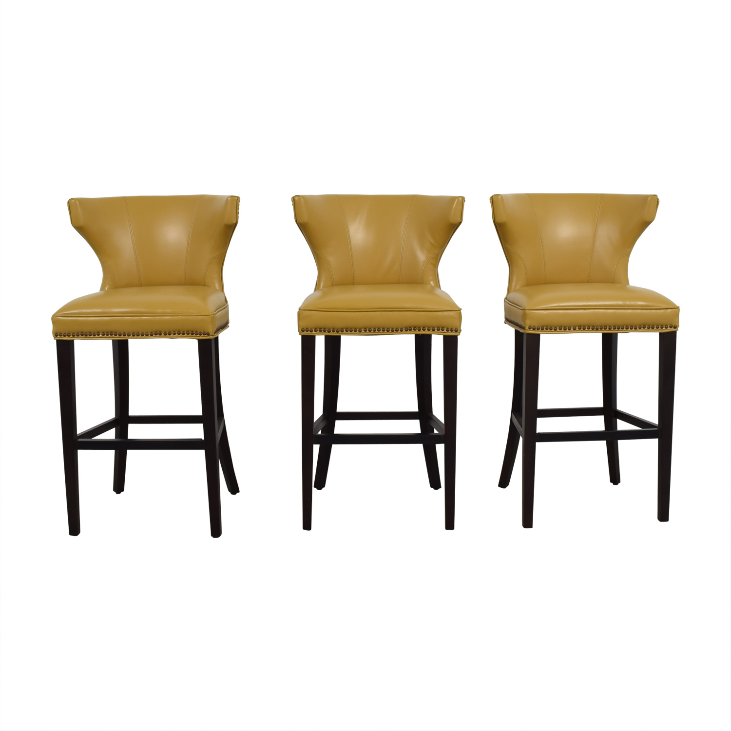 Wonderful 72% OFF - Grandin Road Grandin Road Mustard Yellow Bar Stools / Chairs CY48