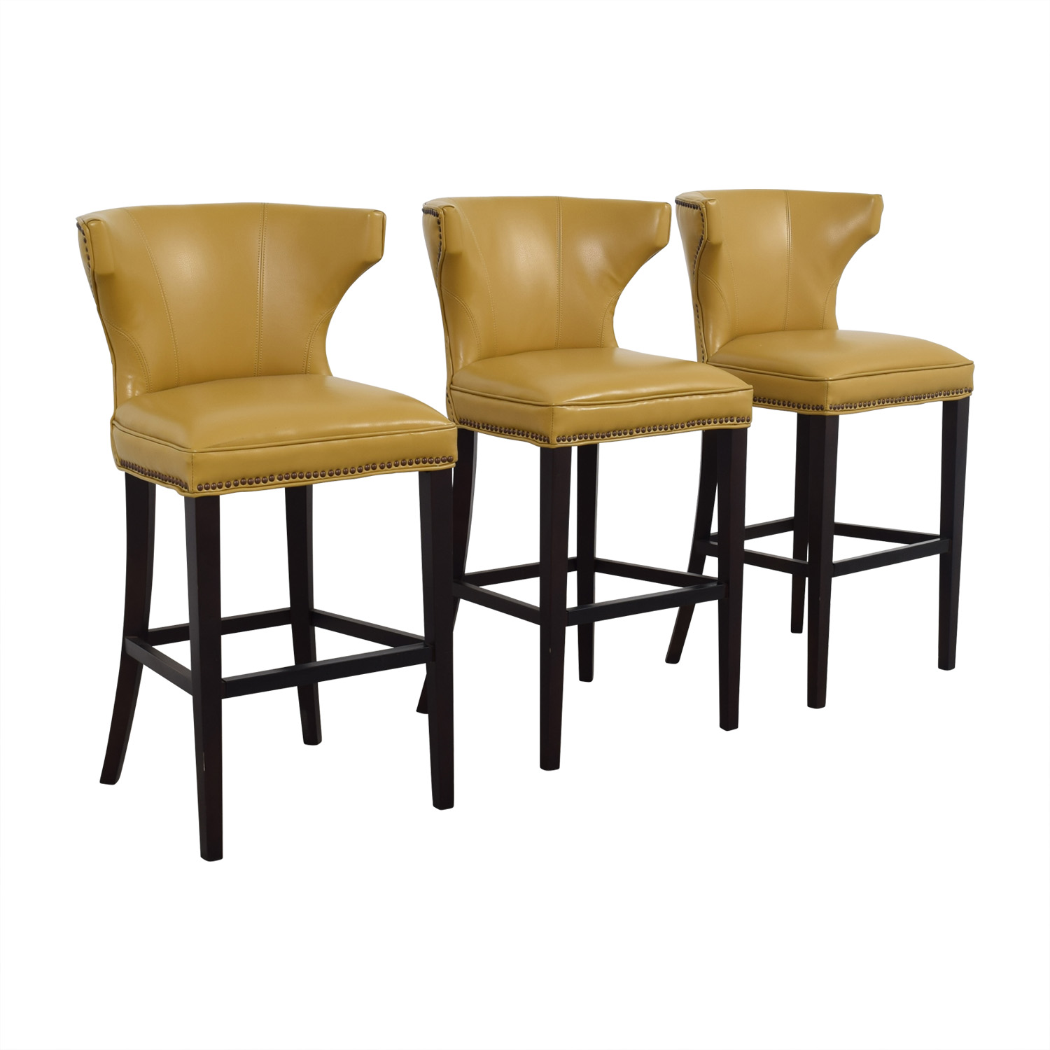Yellow Stools Furniture. Grandin Road Mustard Yellow Bar Stools Used  Furniture O