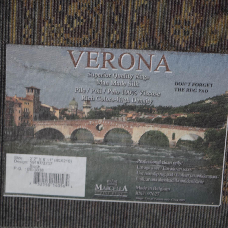 Verona Verona Black and Beige Floor Runners for sale