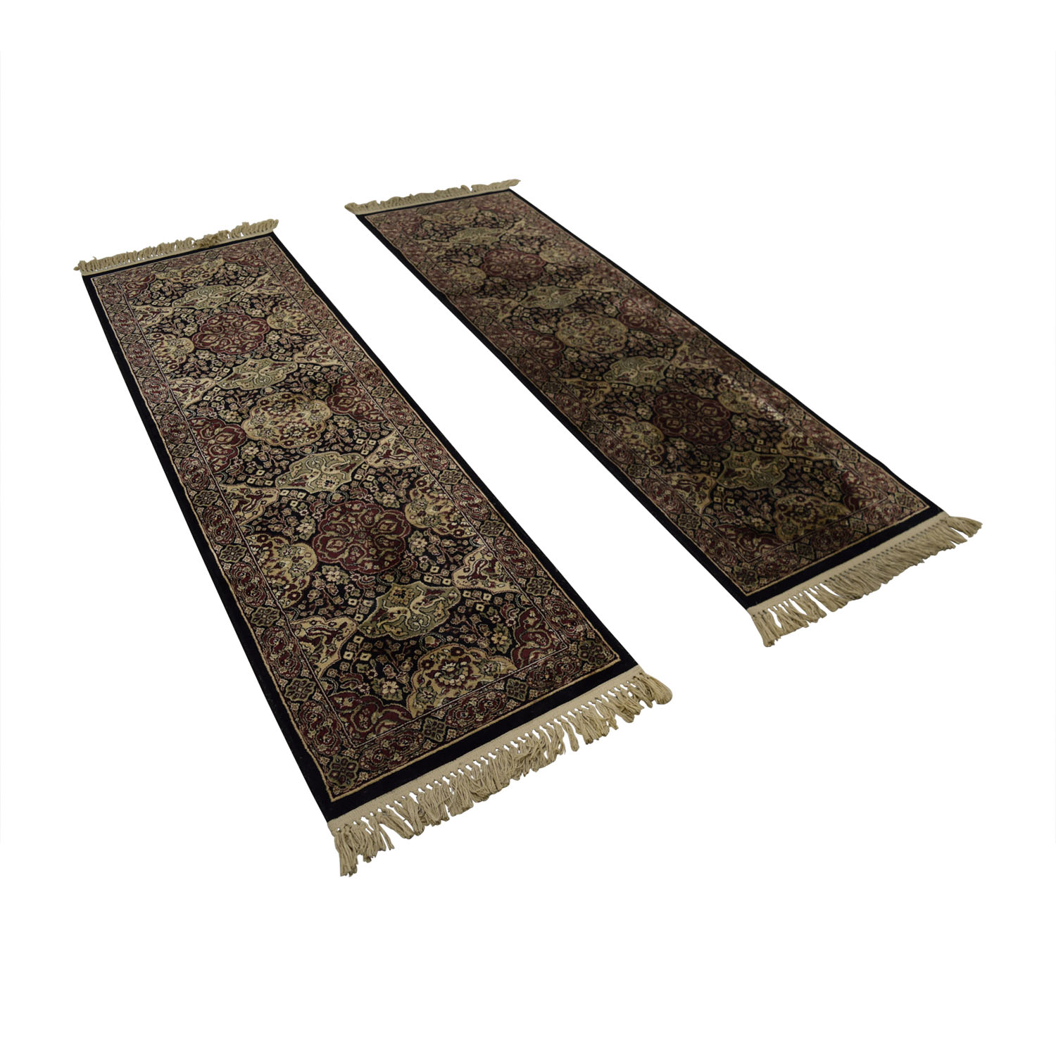 buy Verona Black and Beige Floor Runners Verona
