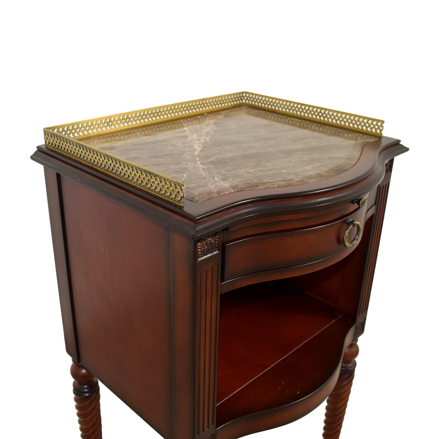 71 Off Bombay Company Bombay Marble Top With Gold Trim