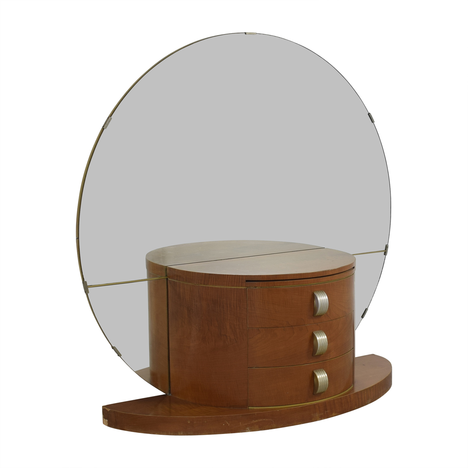 Modernage Art Deco Vanity With Large Round Mirror Price