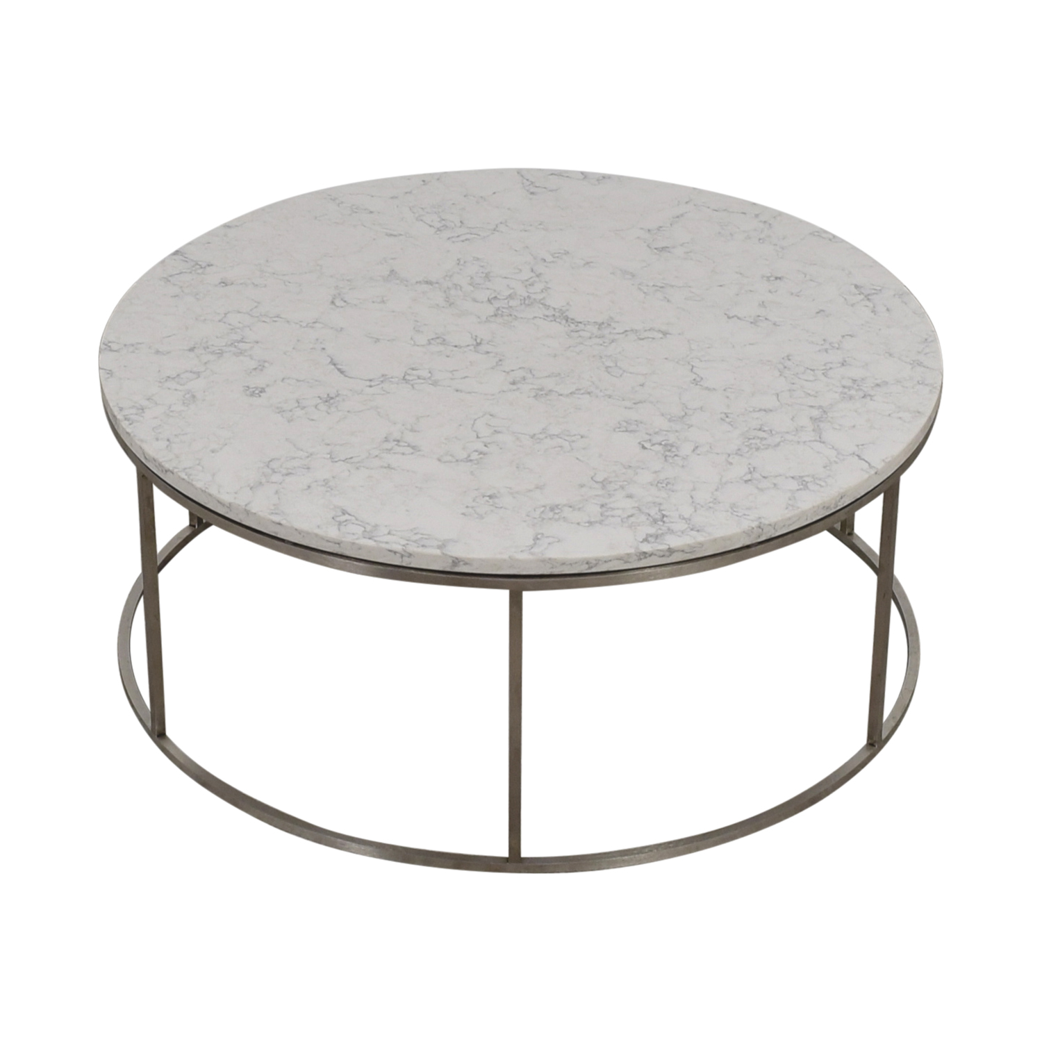 Room & Board Room & Board Round Marble Top Coffee Table for sale