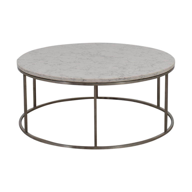 Room & Board Round Marble Top Coffee Table sale