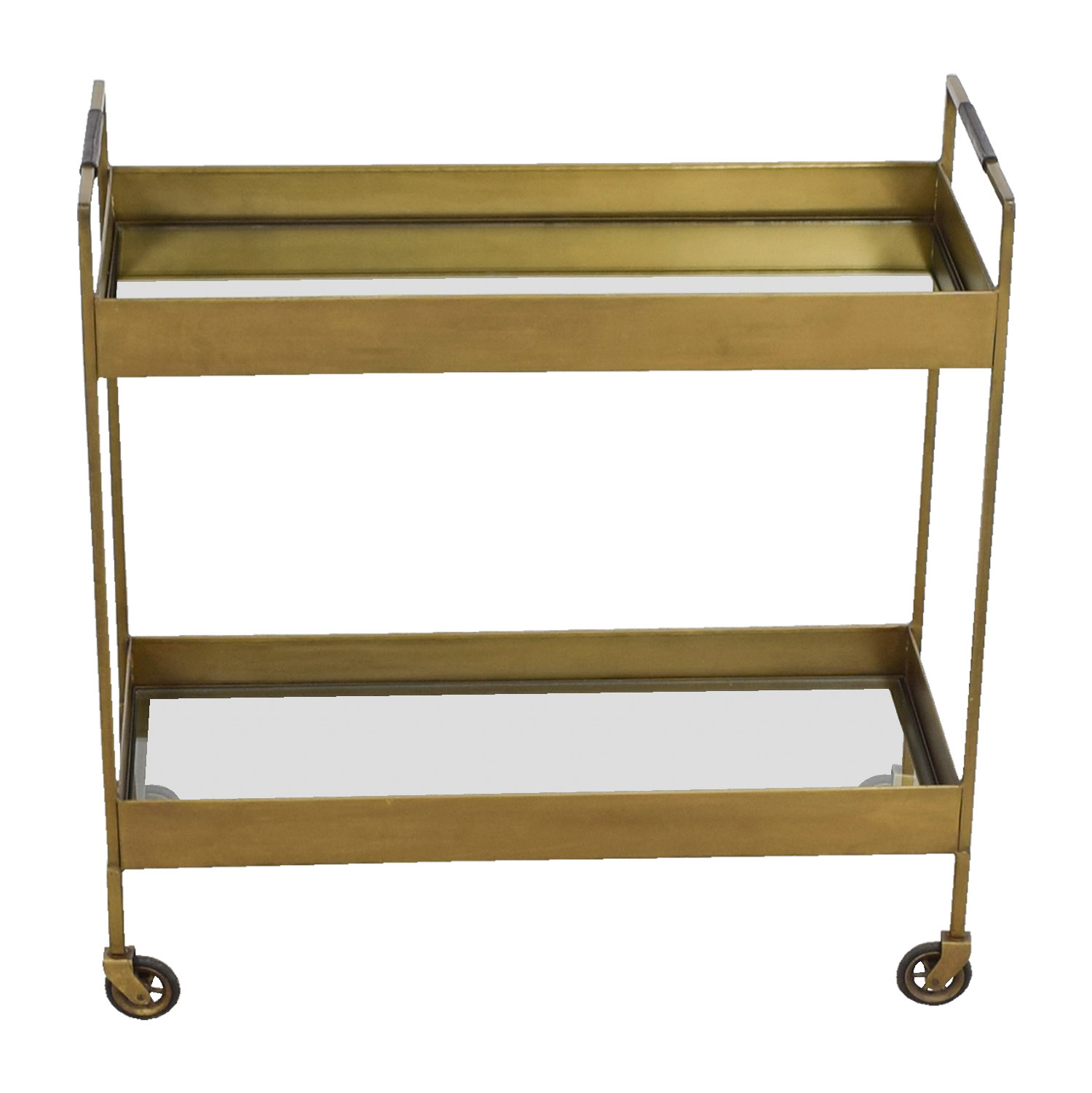 buy Crate & Barrel Libations Antique Brass Bar Cart Crate & Barrel