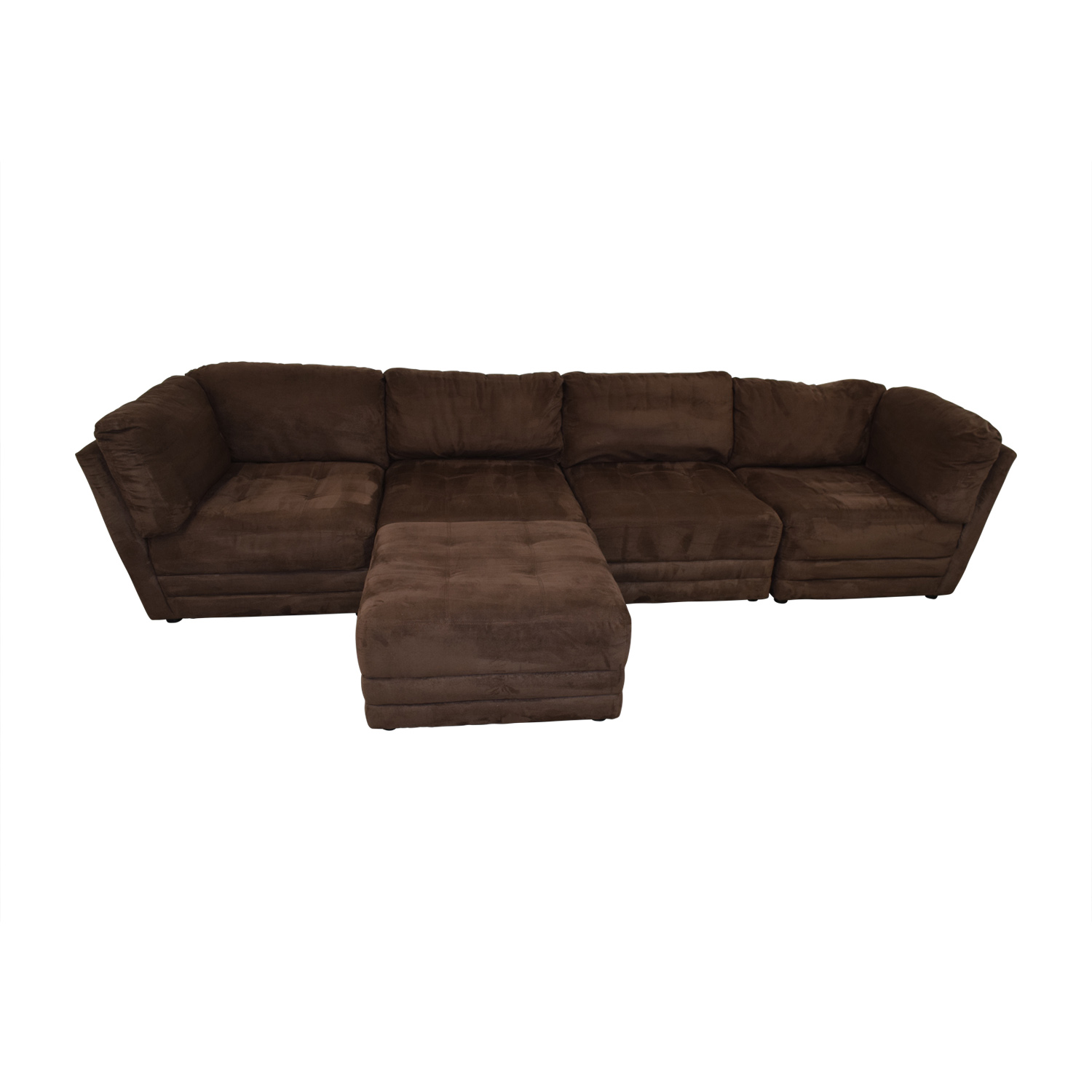 shop Brown Sectional with Ottoman Sofas