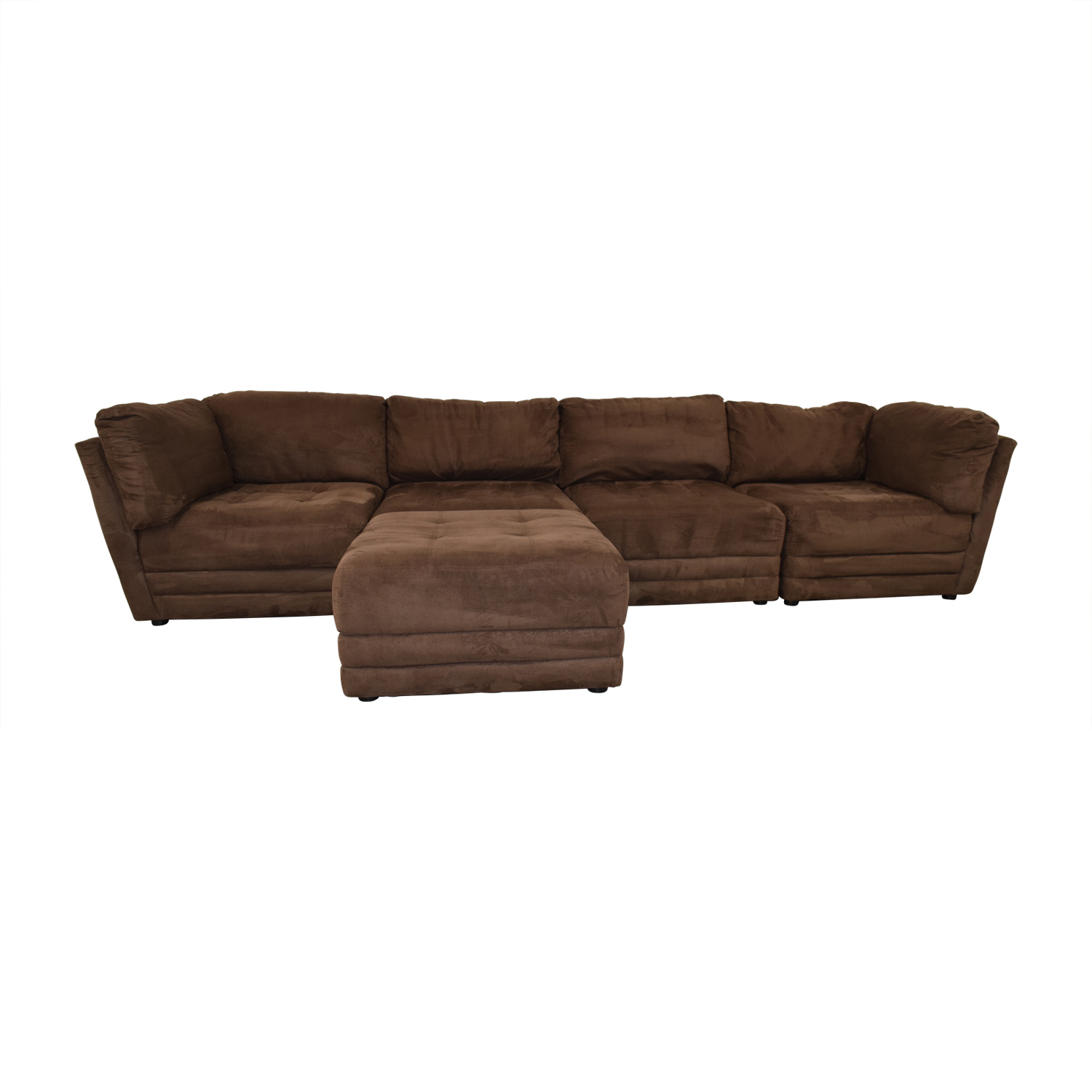 Brown Sectional with Ottoman Sofas