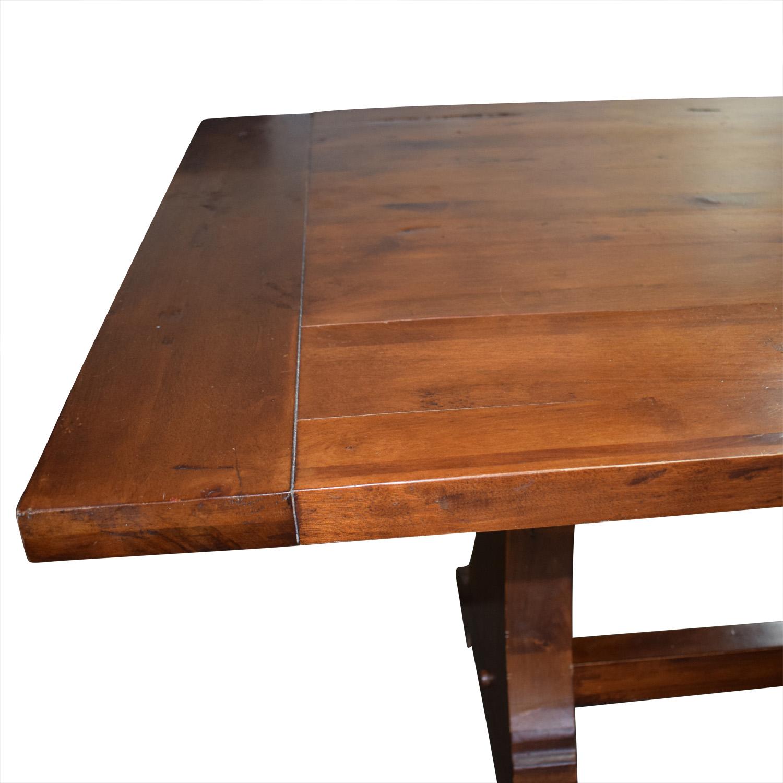 78 off ballard designs ballard designs solid walnut dining table tables. Black Bedroom Furniture Sets. Home Design Ideas