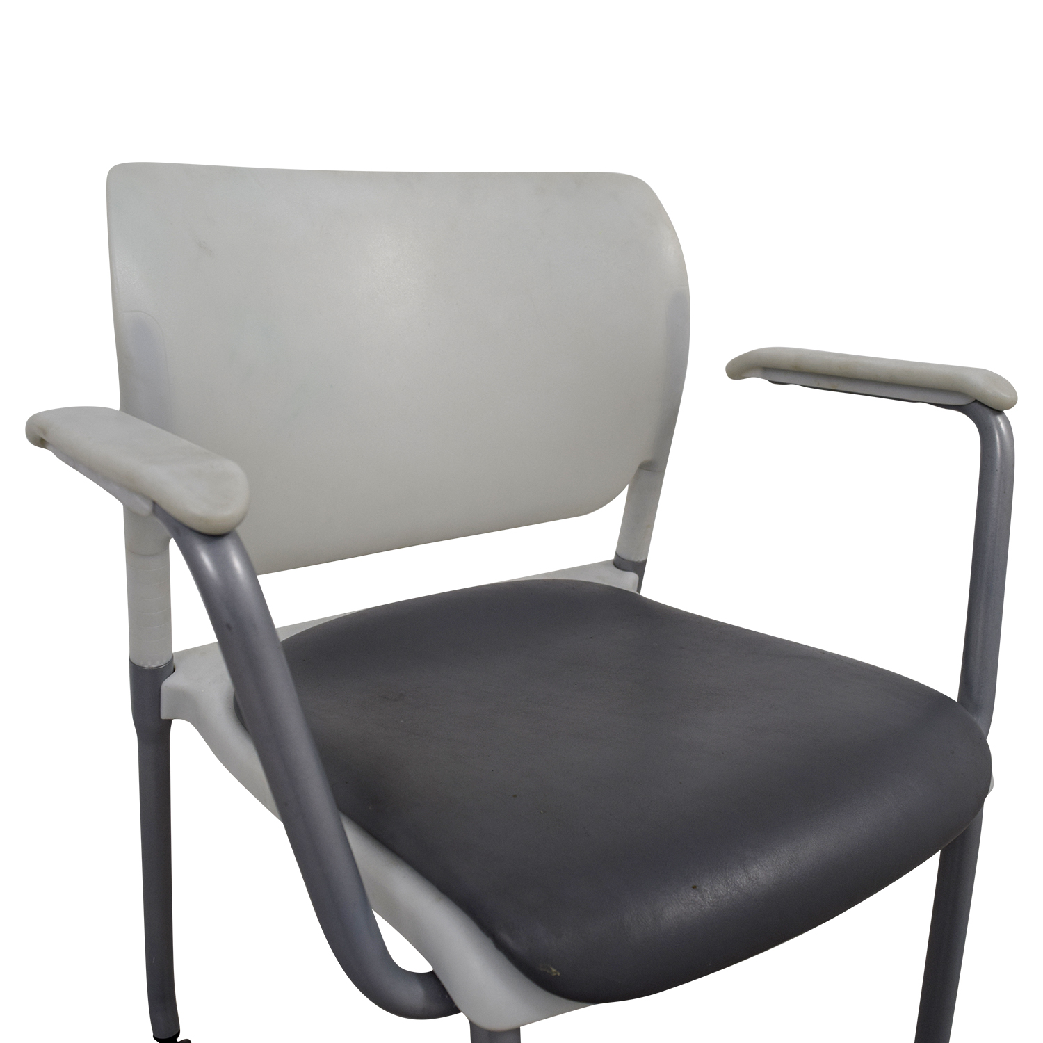 ... SitOnIt SitOnIt White And Grey Side Chair On Castors Discount ...
