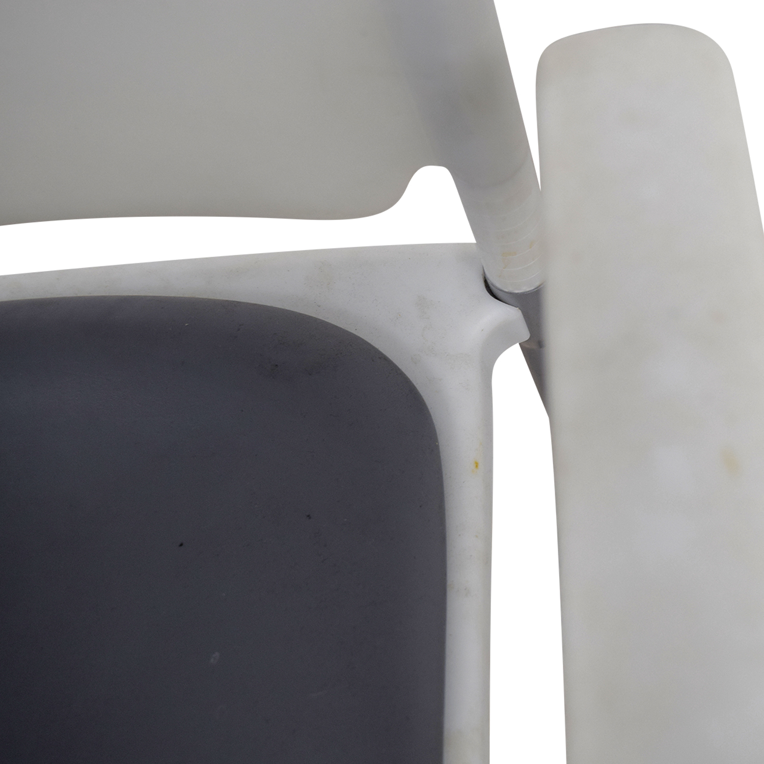 ... SitOnIt SitOnIt White And Grey Side Chair On Castors White/grey ...