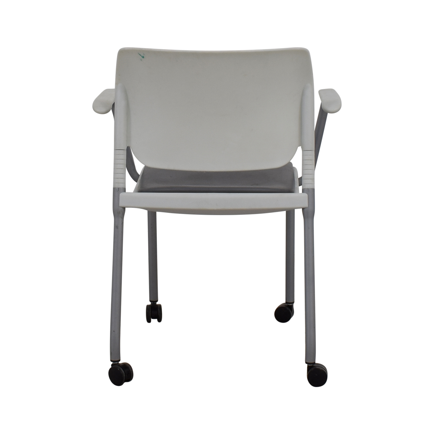 SitOnIt SitOnIt White and Grey Side Chair on Castors dimensions