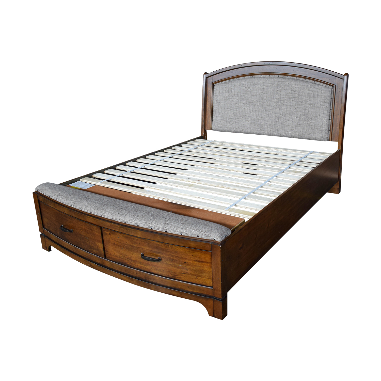 70 off queen tufted wooden storage bed beds. Black Bedroom Furniture Sets. Home Design Ideas