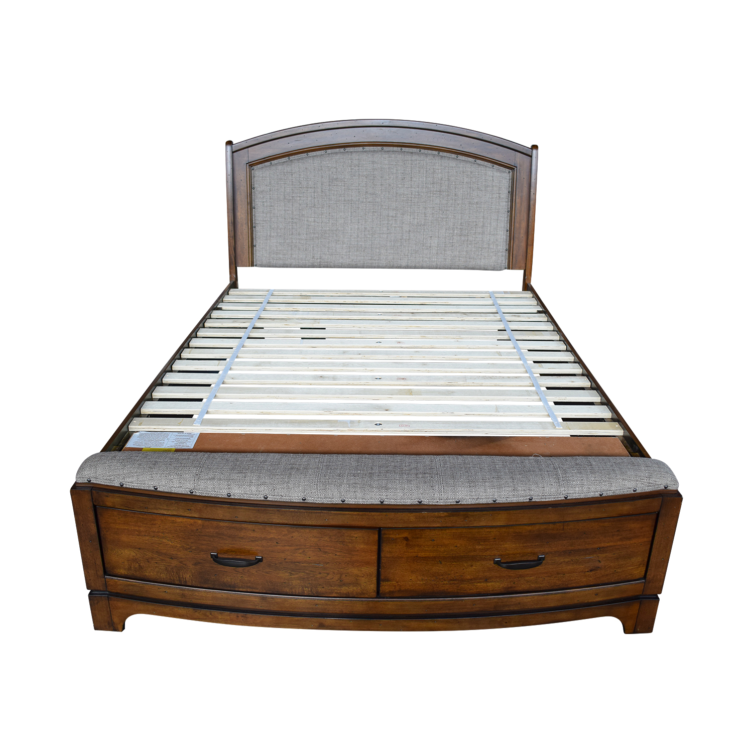 Queen Tufted Wooden Storage Bed on sale