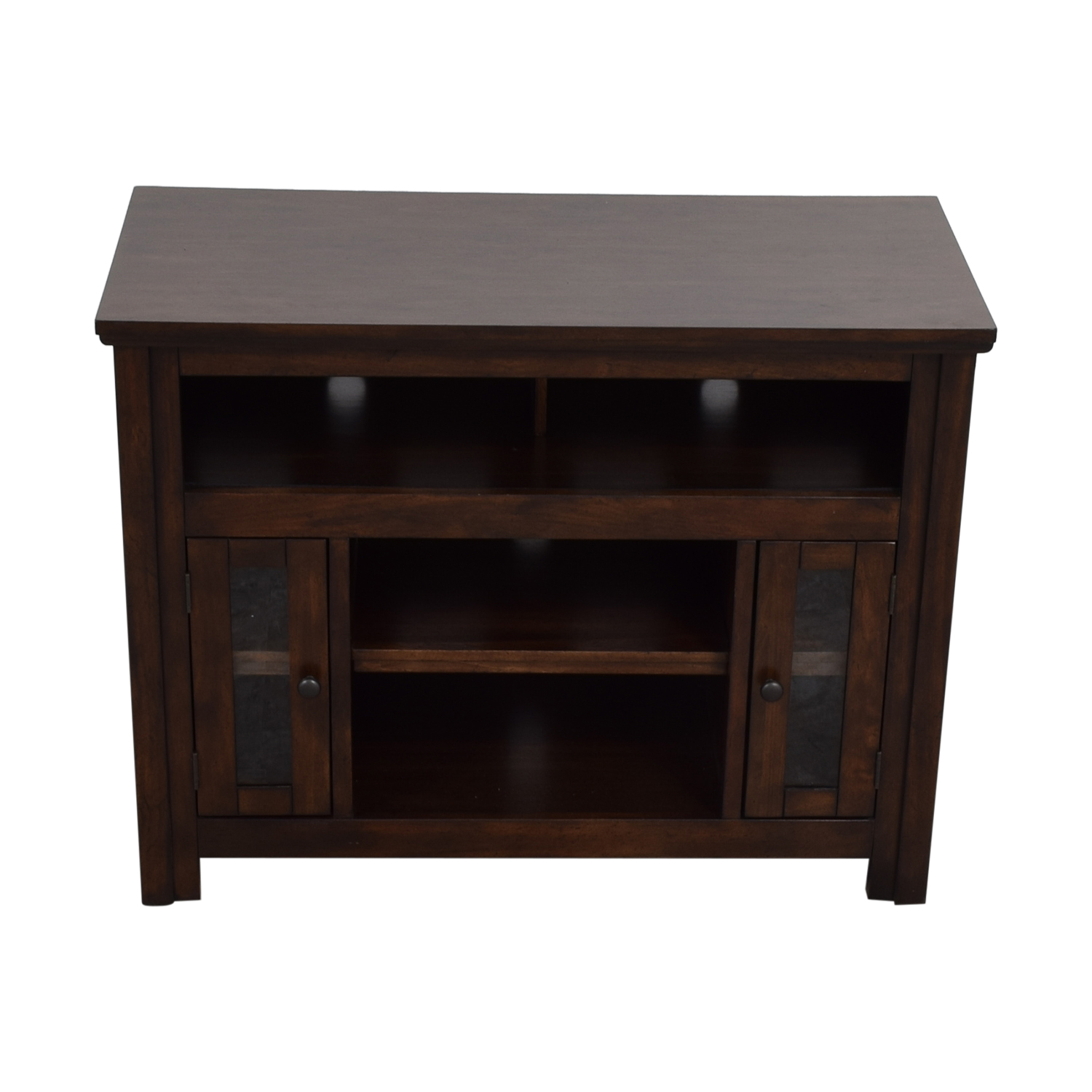 shop Wood and Glass Entertainment Center