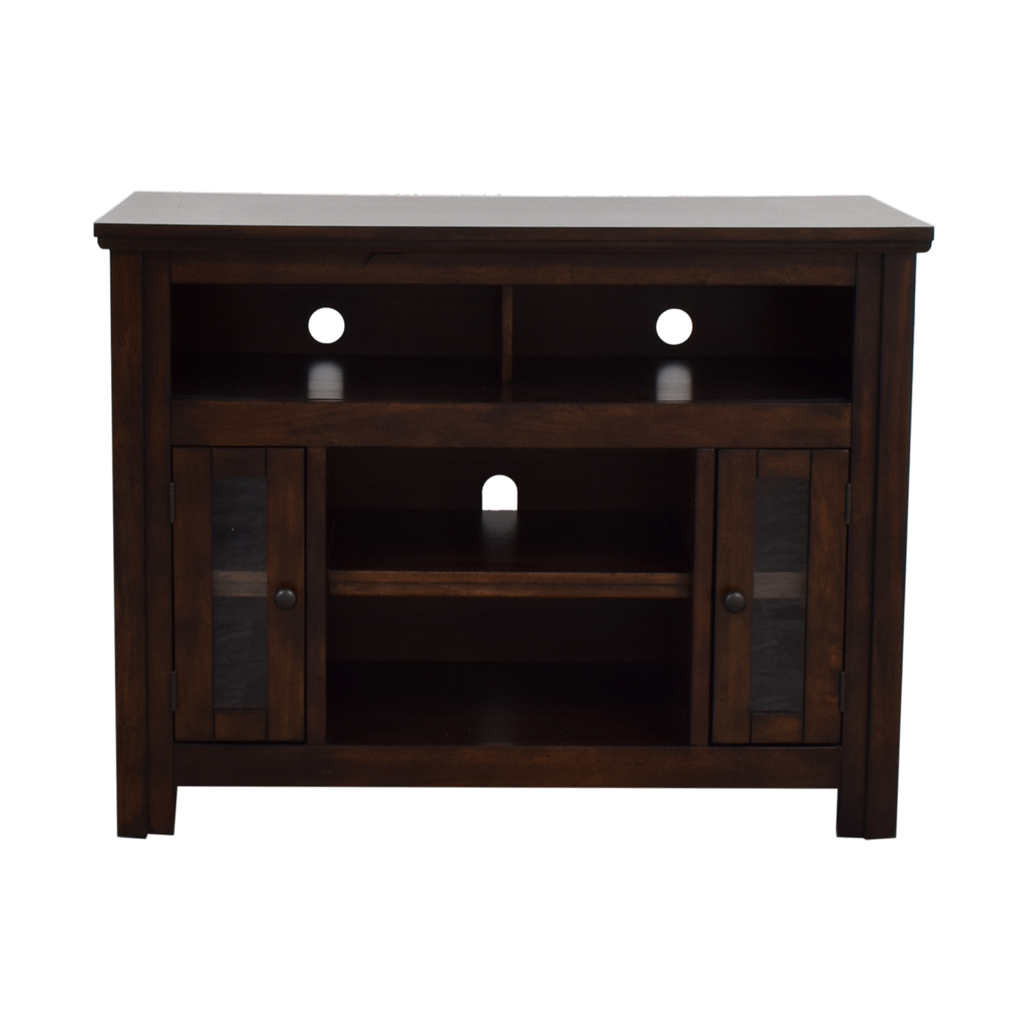 Wood and Glass Entertainment Center coupon