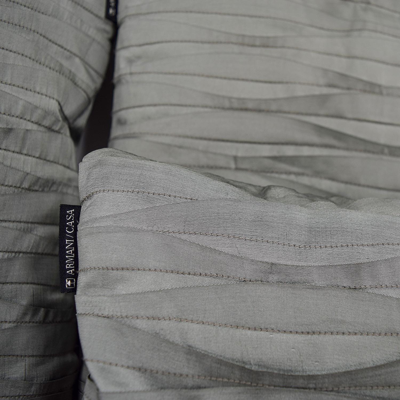 shop Armani Green Fabric Wave Toss Pillows Armani Decorative Accents