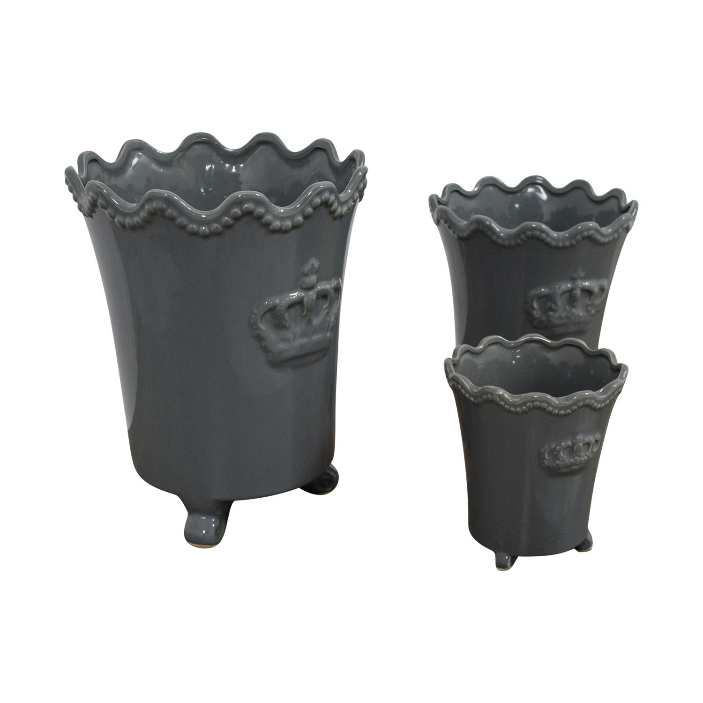 Safavieh Safavieh Grey Crown Vases nj
