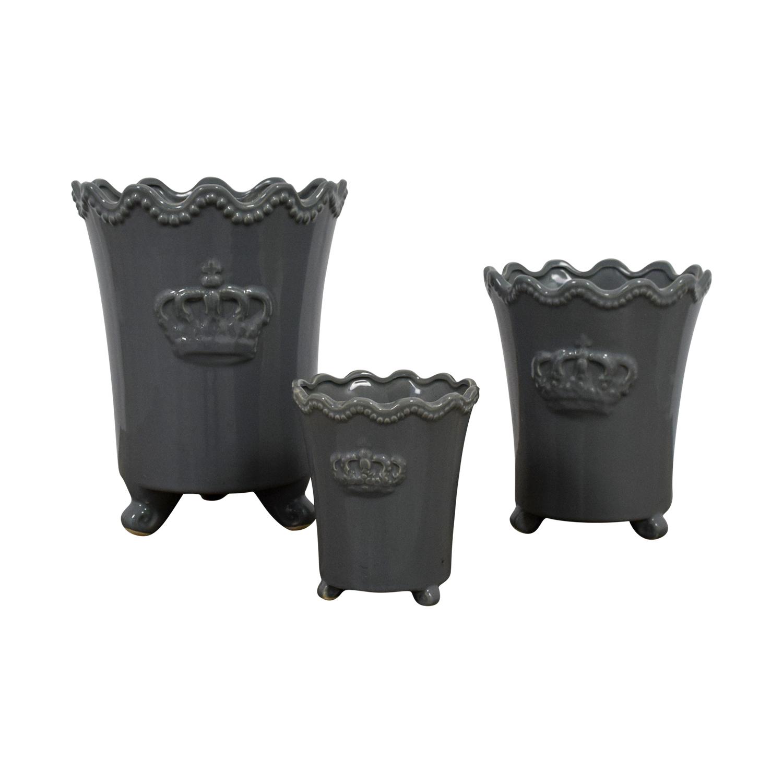 Safavieh Grey Crown Vases Safavieh