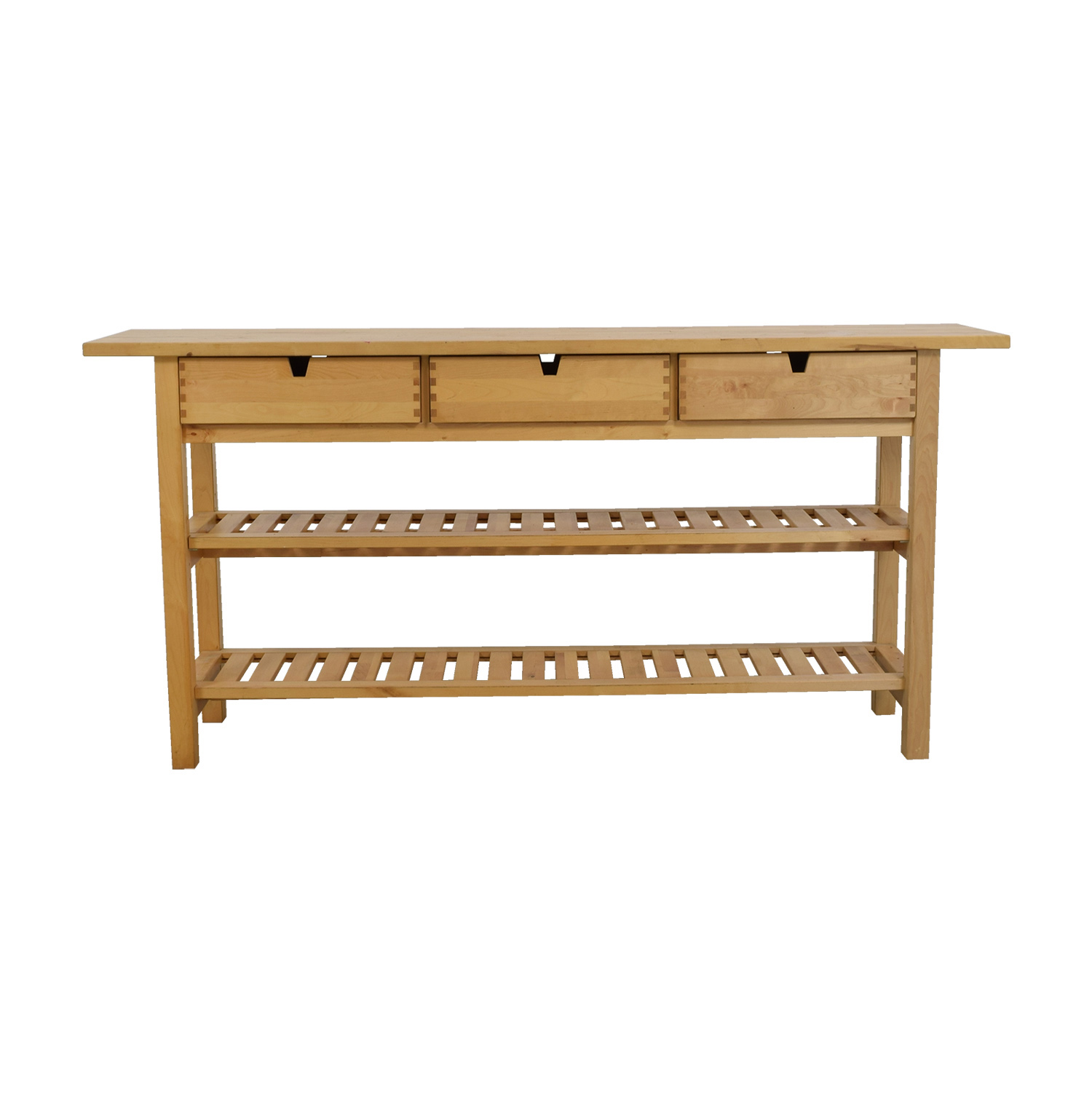 shop IKEA IKEA Forhija Natural Birch Three-Drawer Island Table online