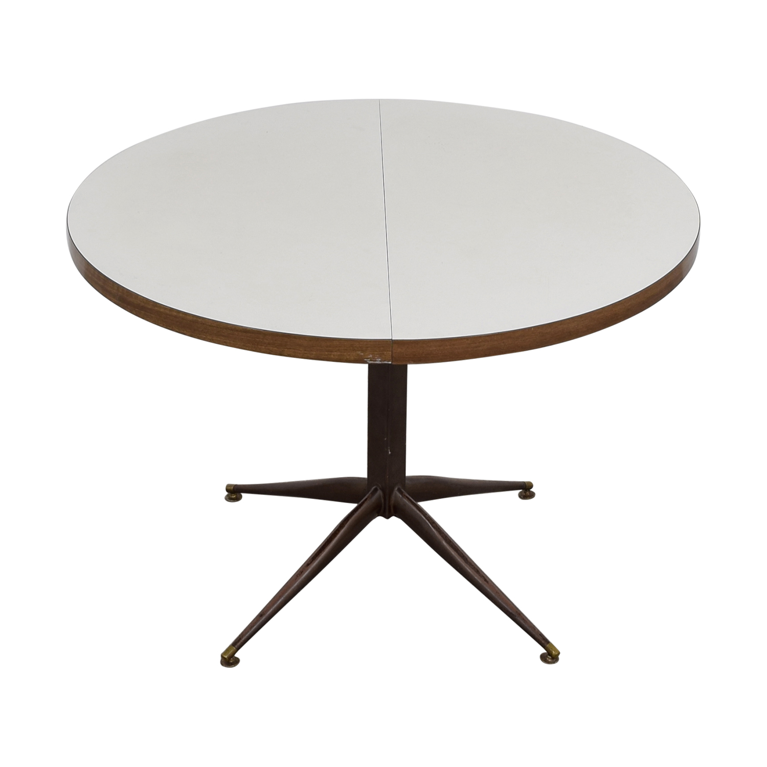 ... White Round Expandable Table ...