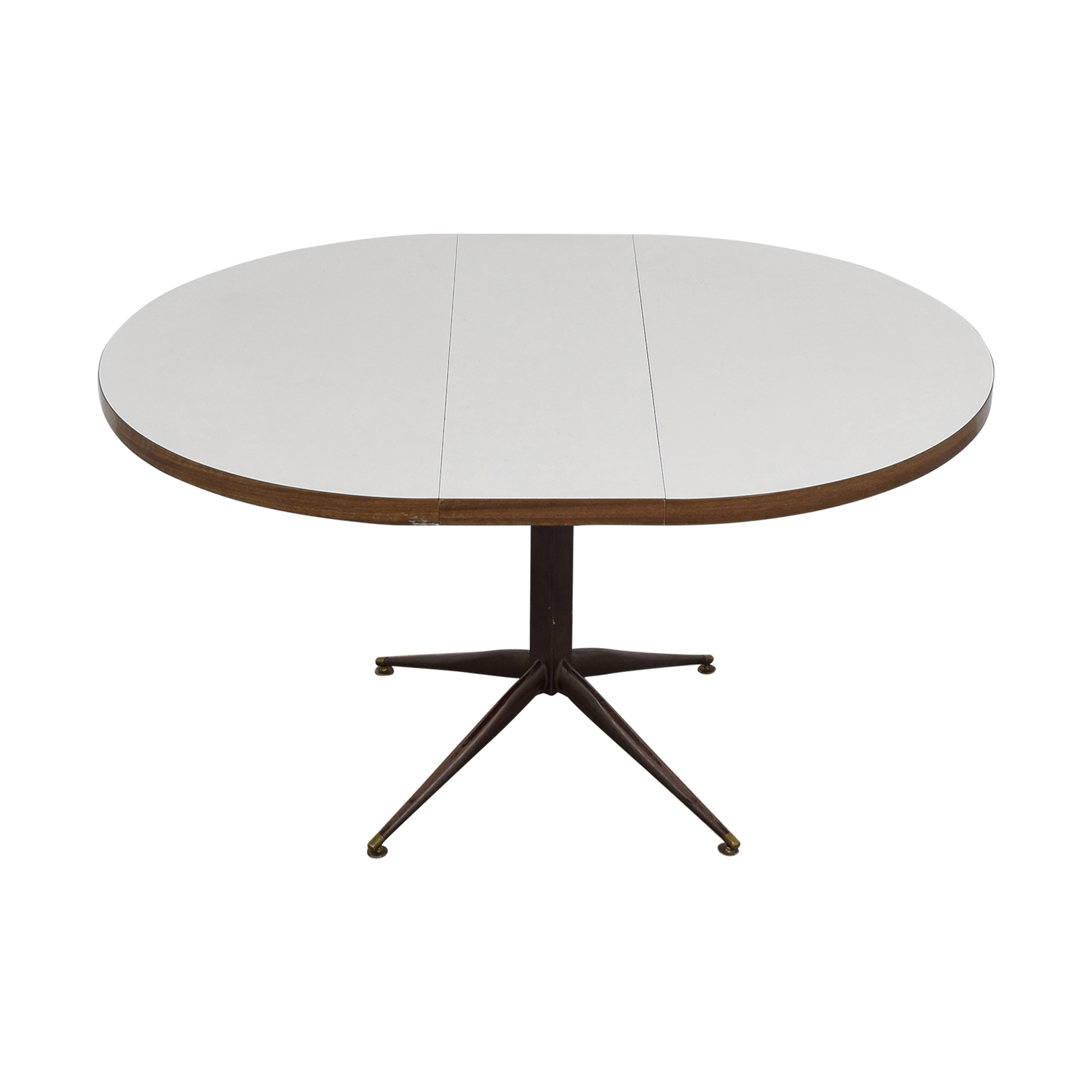 White Round Expandable Table discount