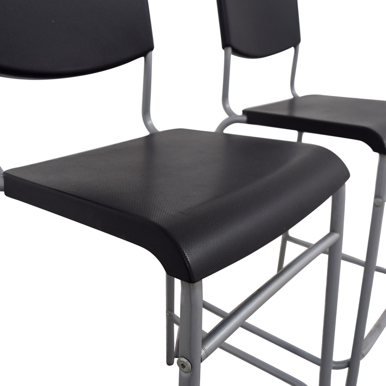 50 off ikea ikea stig black bar stools chairs for Ikea black dining chairs