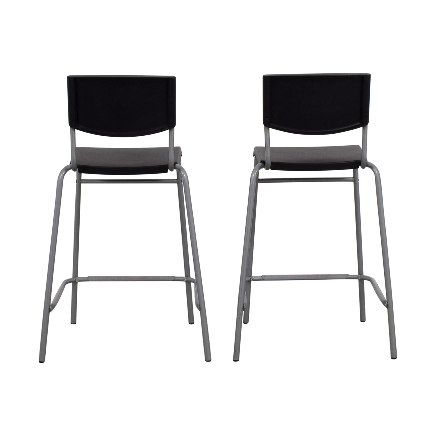 50% OFF - IKEA IKEA Stig Black Bar Stools / Chairs