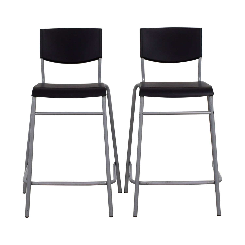 50 Off Ikea Ikea Stig Black Bar Stools Chairs
