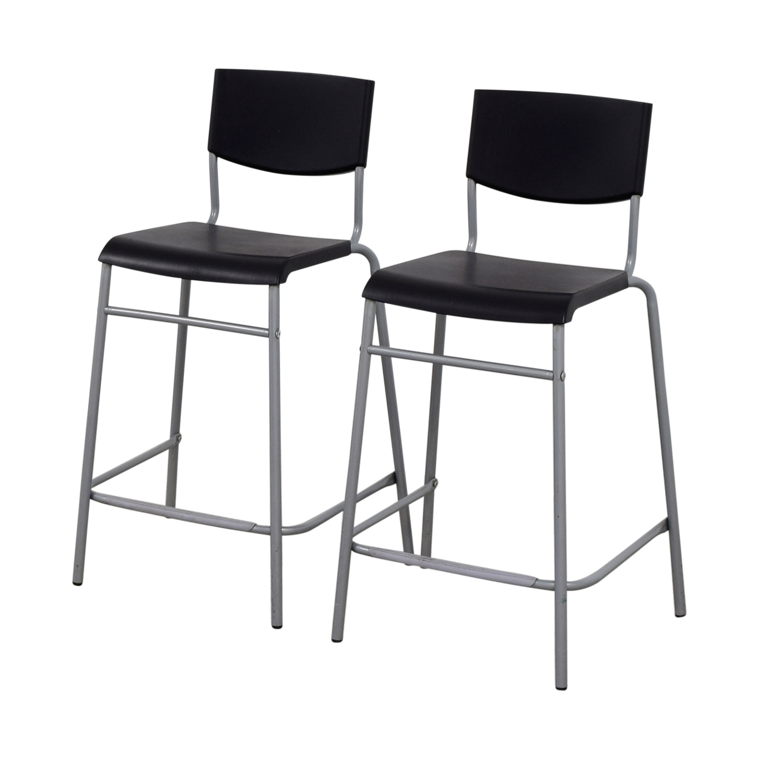 50 off ikea ikea stig black bar stools chairs. Black Bedroom Furniture Sets. Home Design Ideas
